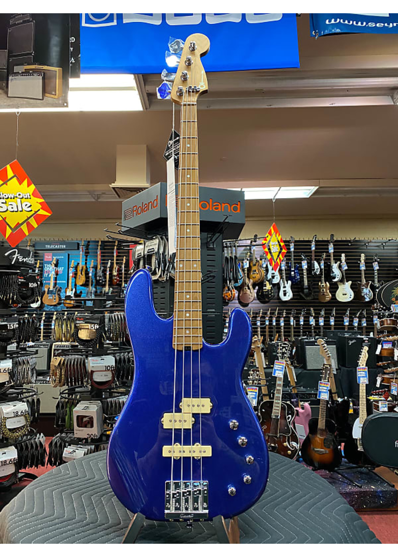 Charvel Charvel Pro-Mod San Dimas® Bass PJ IV, Caramelized Maple Fingerboard, Mystic Blue