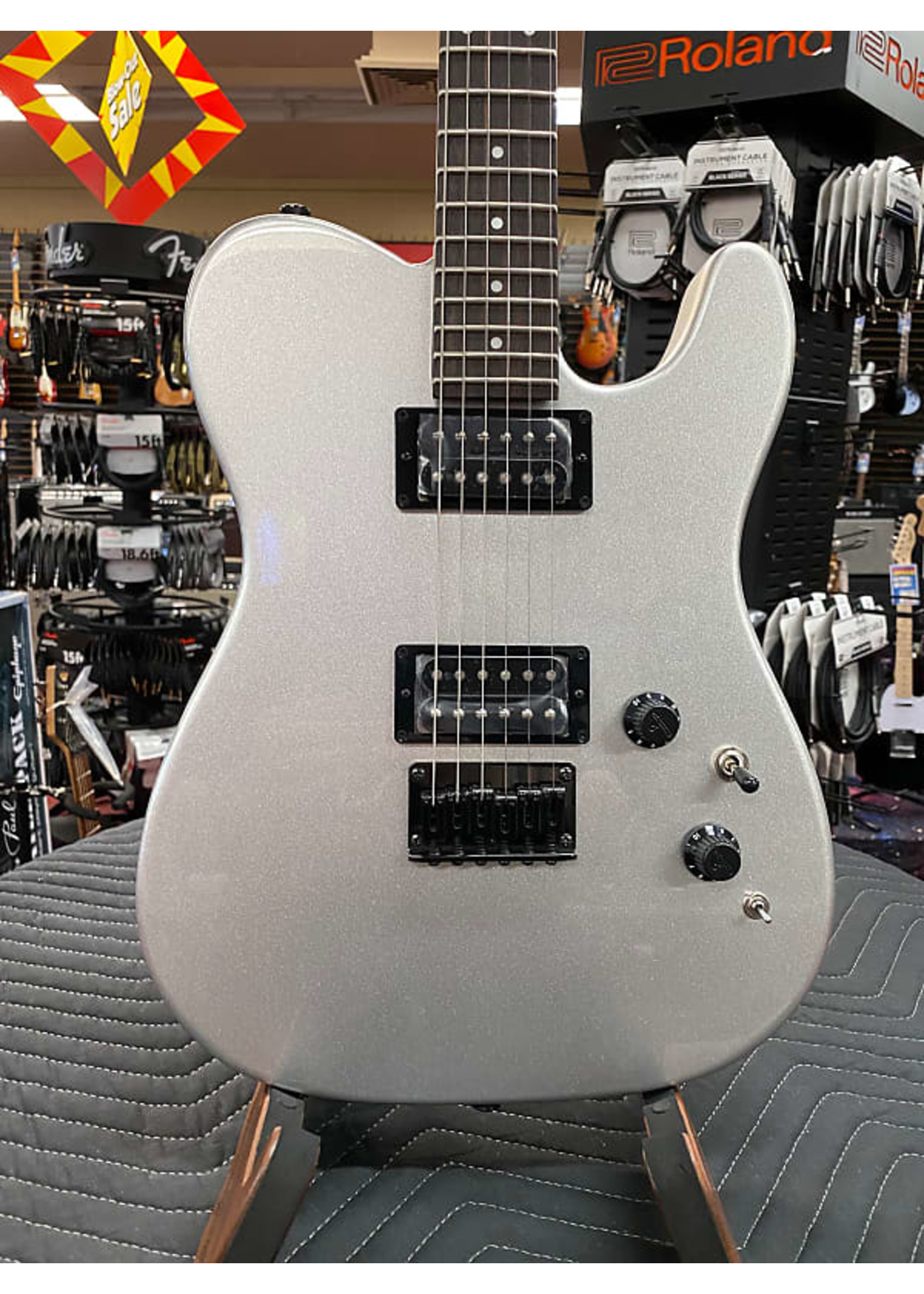 Fender Fender Boxer Series Telecaster HH, Rosewood Fingerboard, Inca Silver