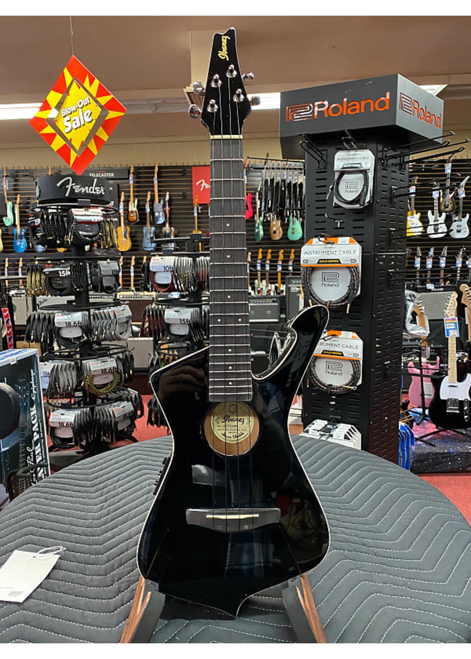 Ibanez Ibanez UICT10 Iceman Tenor Acoustic-Electric Ukulele - Black High Gloss