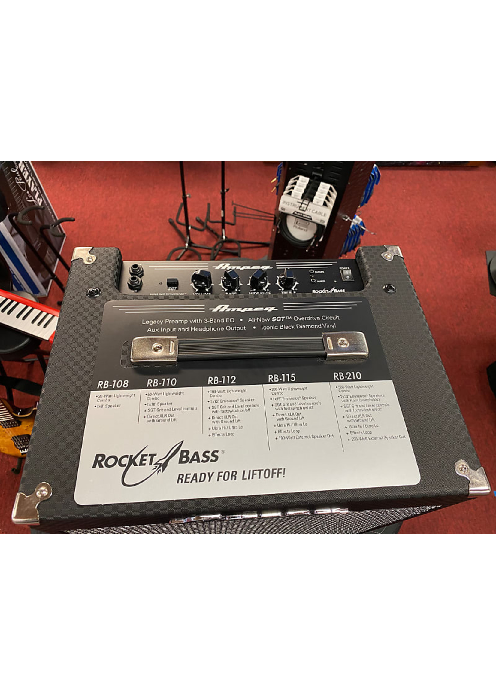 Ampeg Ampeg Rocket Bass 108 Black and Silver