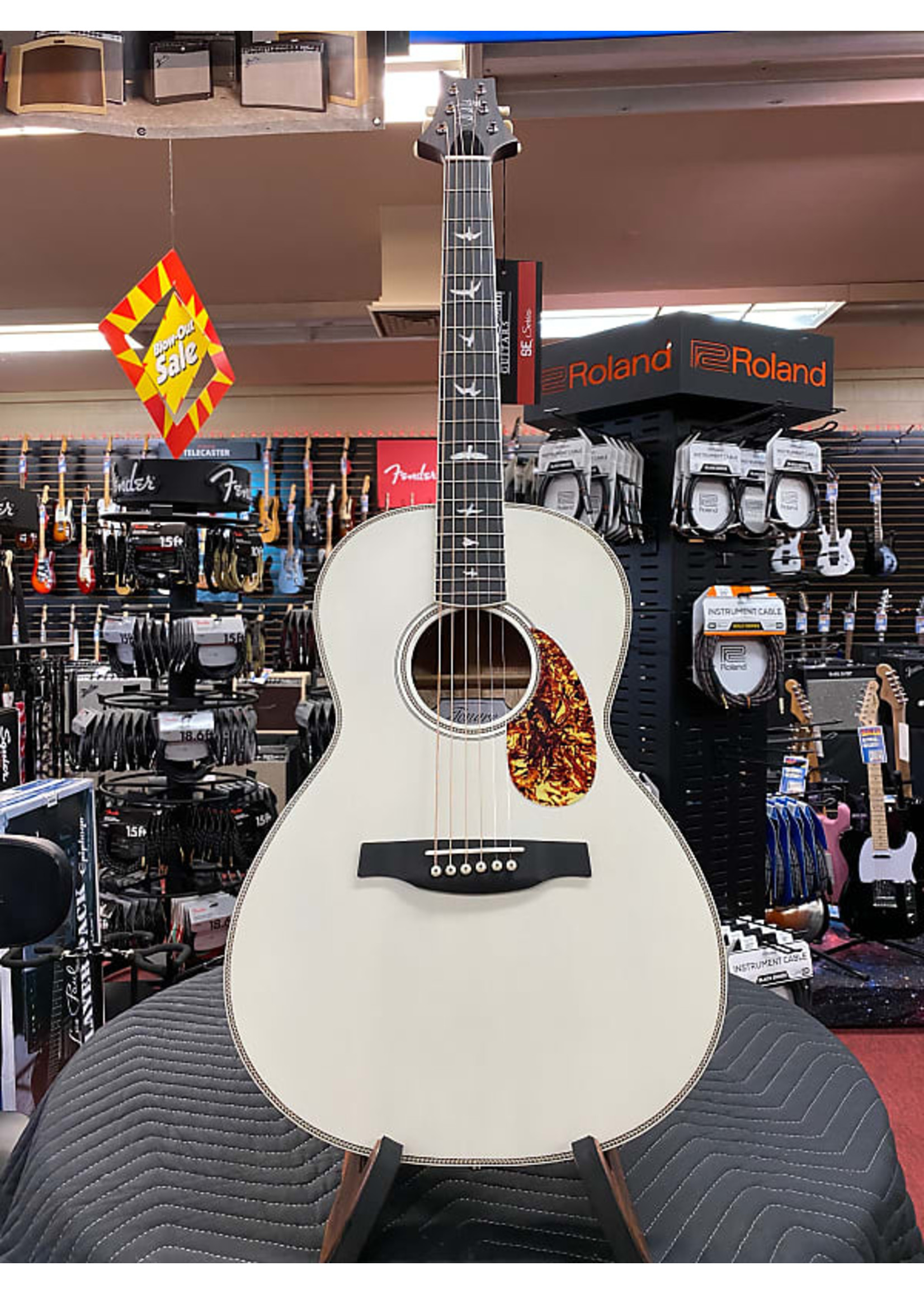 Paul Reed Smith PRS Limited Edition SE Parlor P20E Acoustic-electric Guitar - Antique White