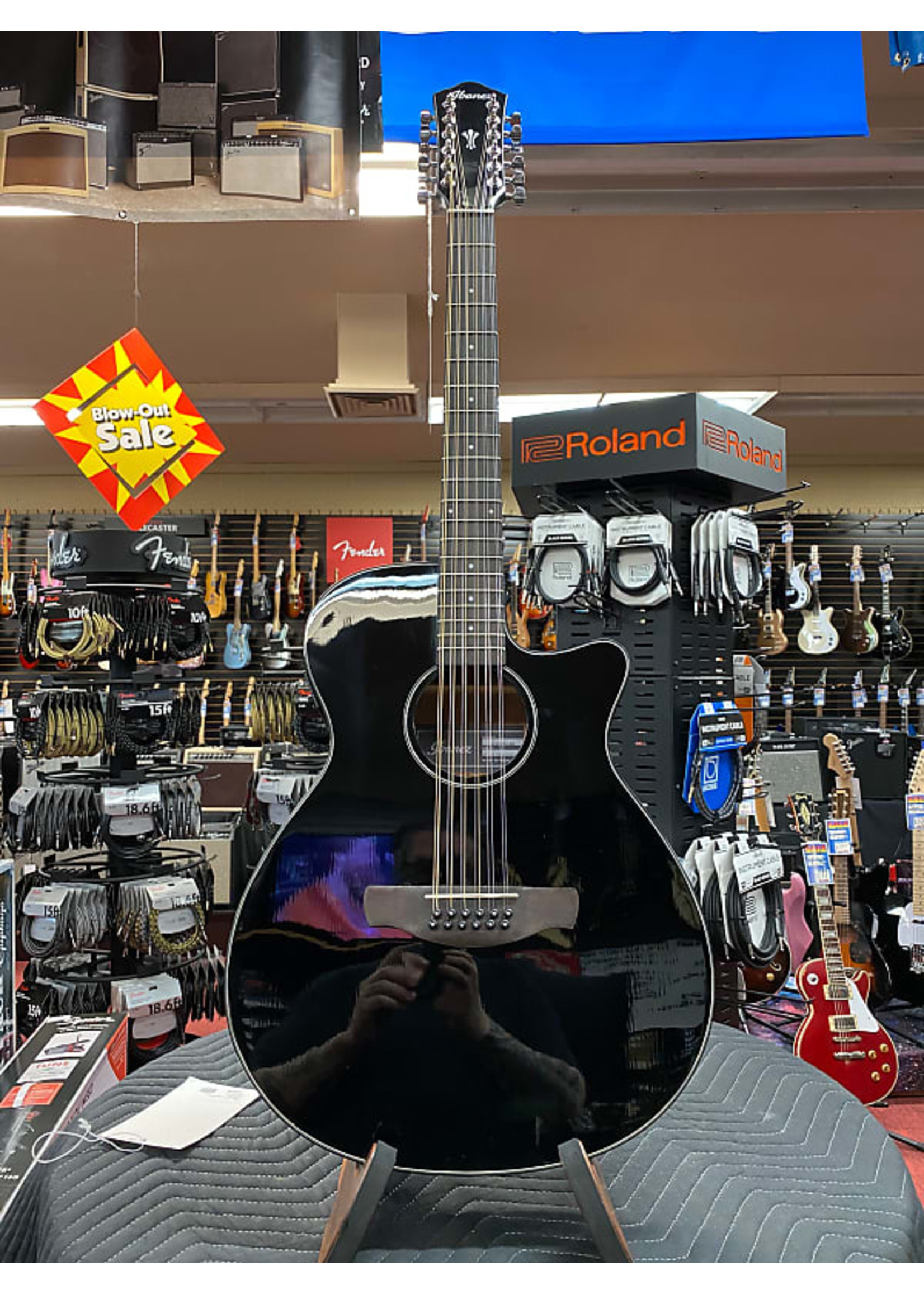 Ibanez Ibanez AEG5012 Acoustic-electric Guitar - Black