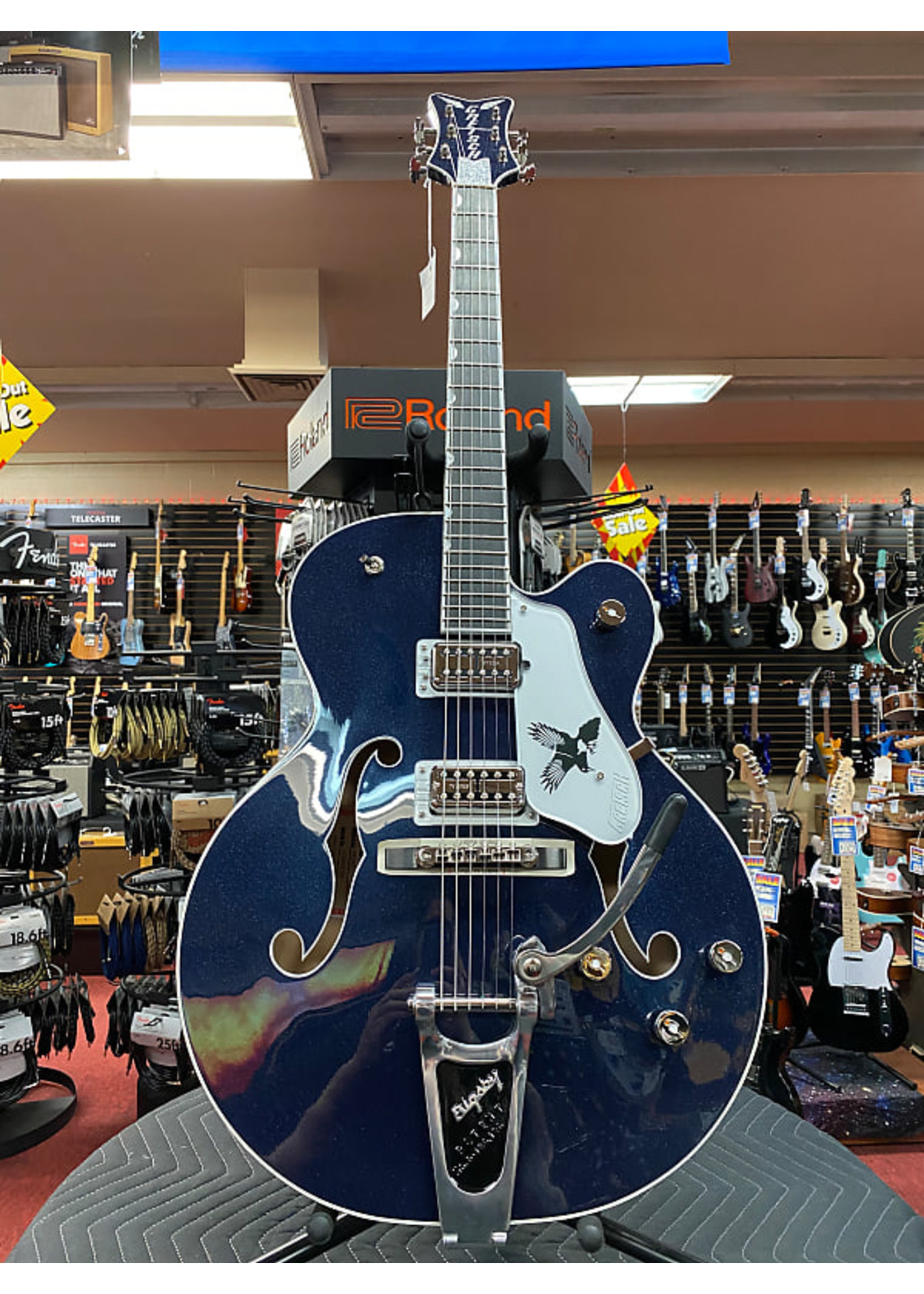 Gretsch Gretsch G6136T-RR Rich Robinson Signature Magpie with Bigsby®, Raven's Breast Blue