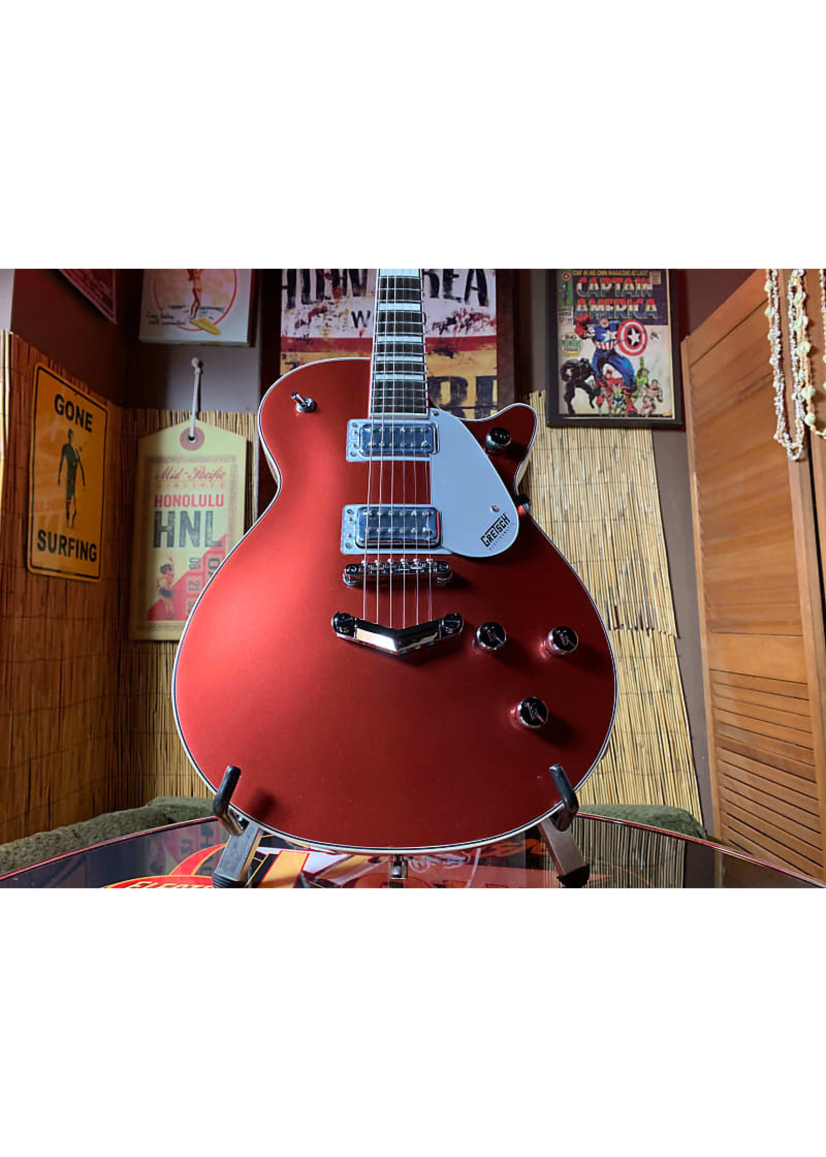 Gretsch Gretsch G5220 Electromatic Jet BT Single-Cut with V-Stoptail in Firestick Red