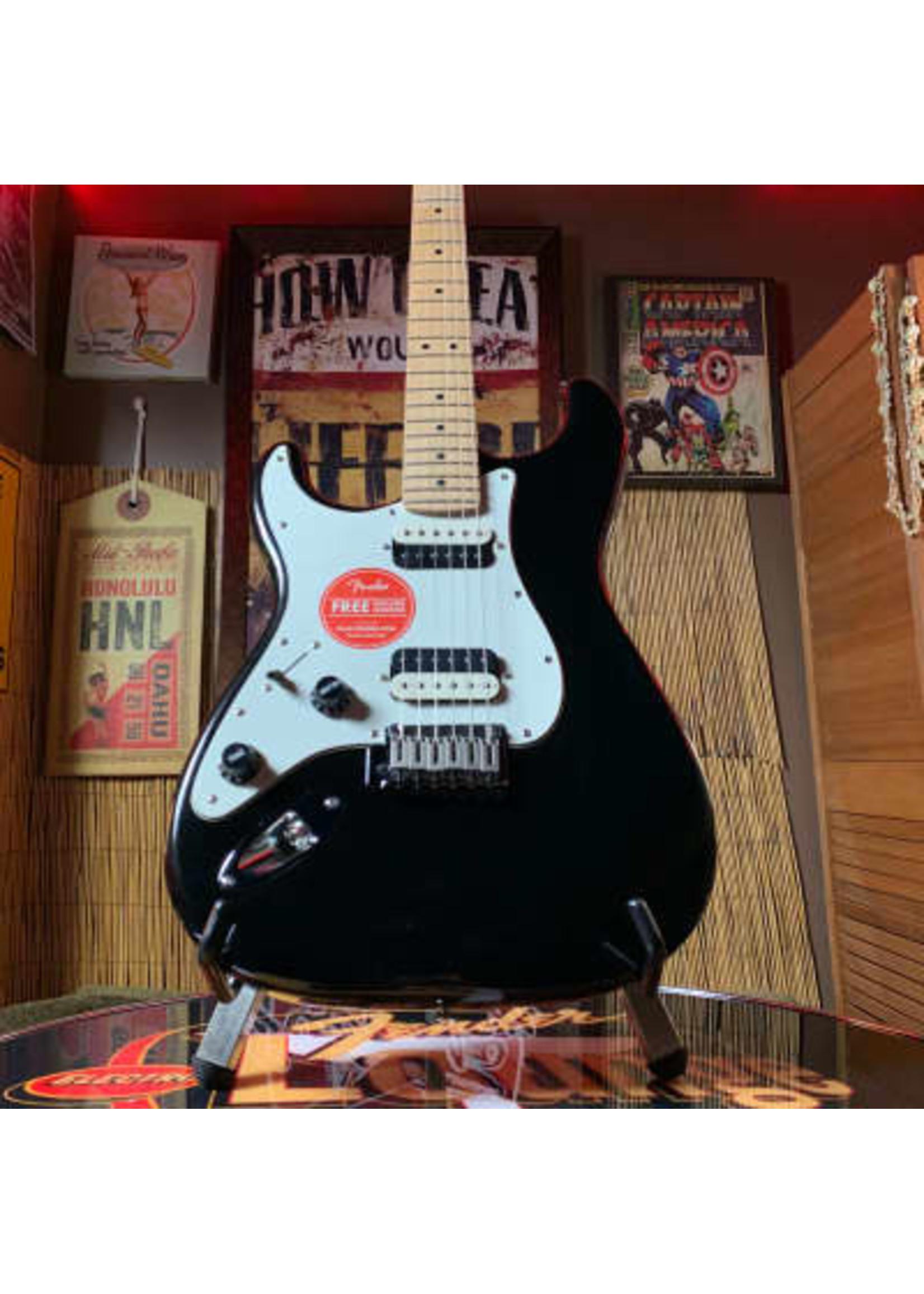Squier Squier Contemporary Stratocaster® HH Left-Handed, Maple Fingerboard, Black Metallic Black Metallic