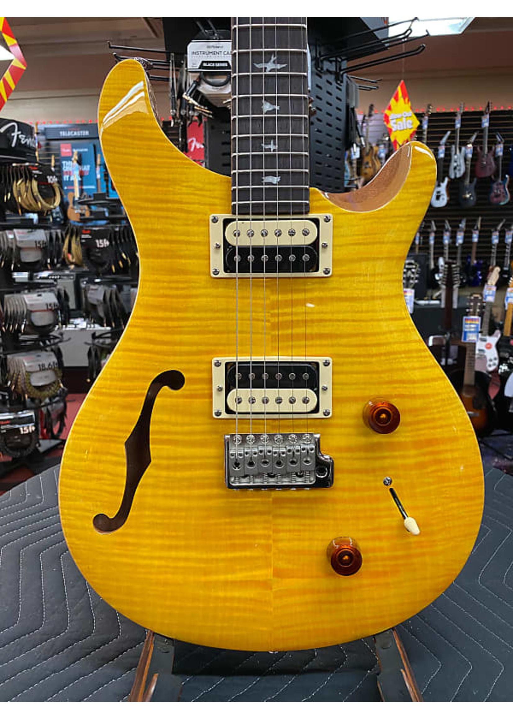 Paul Reed Smith Paul Reed Smith SE Custom 22 Semi-hollow Electric Guitar - Santana Yellow