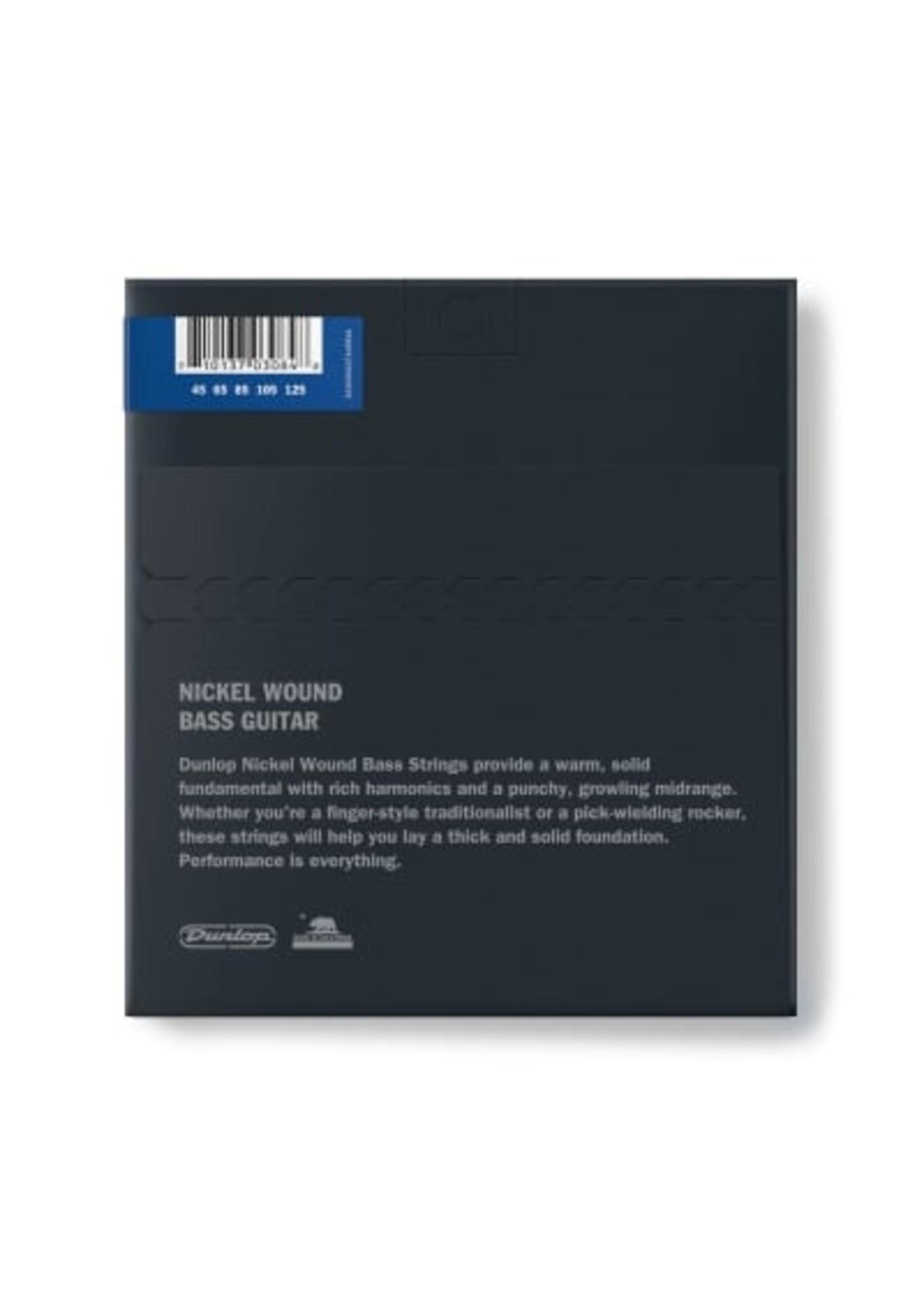Dunlop Dunlop DBN45125 DUNLOP BASS NICKEL WOUND STRINGS 45-125   5-STRING SET