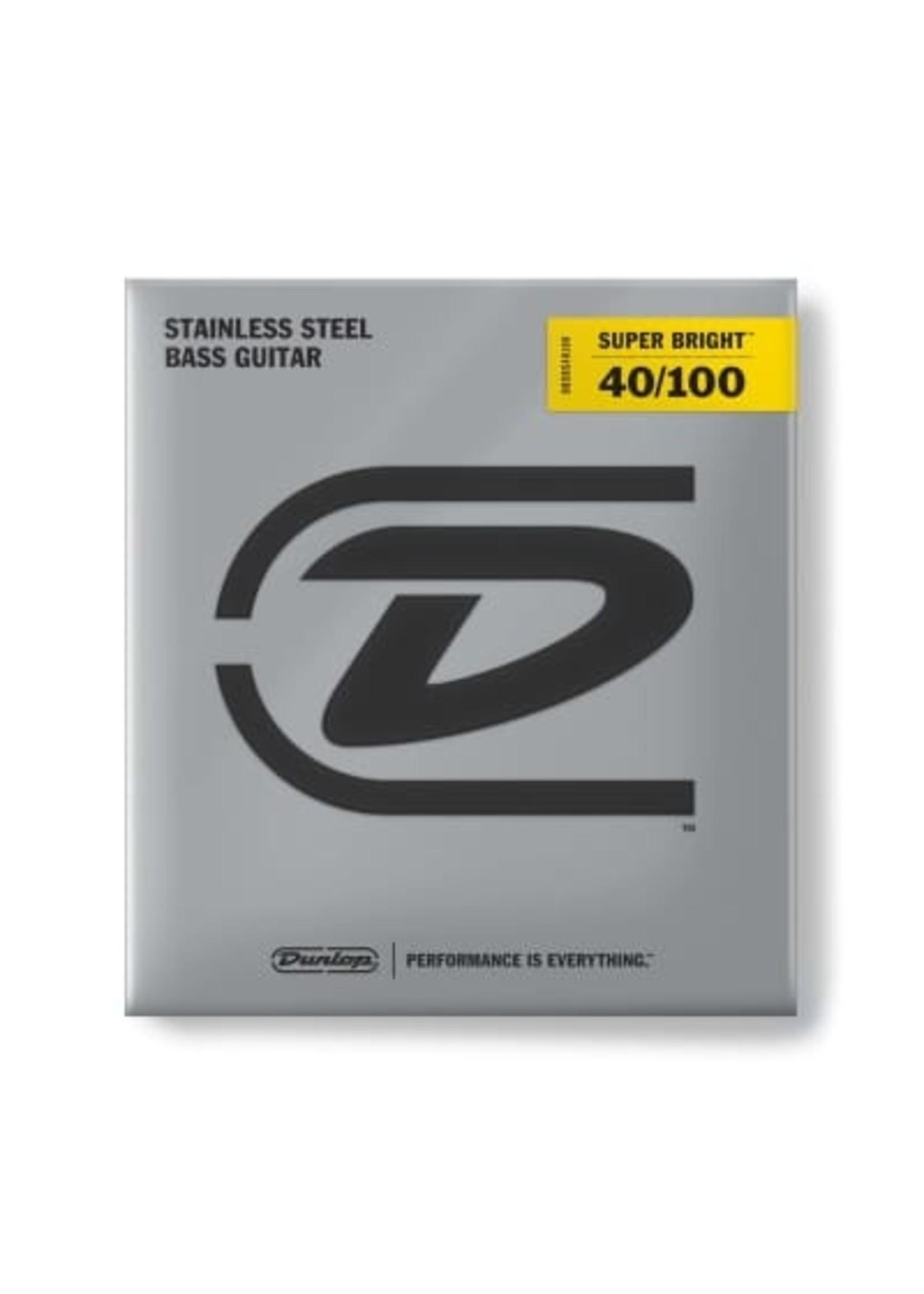 Dunlop Dunlop DBSBS40100 STAINLESS STEEL SUPER BRIGHT BASS STRINGS 40-100