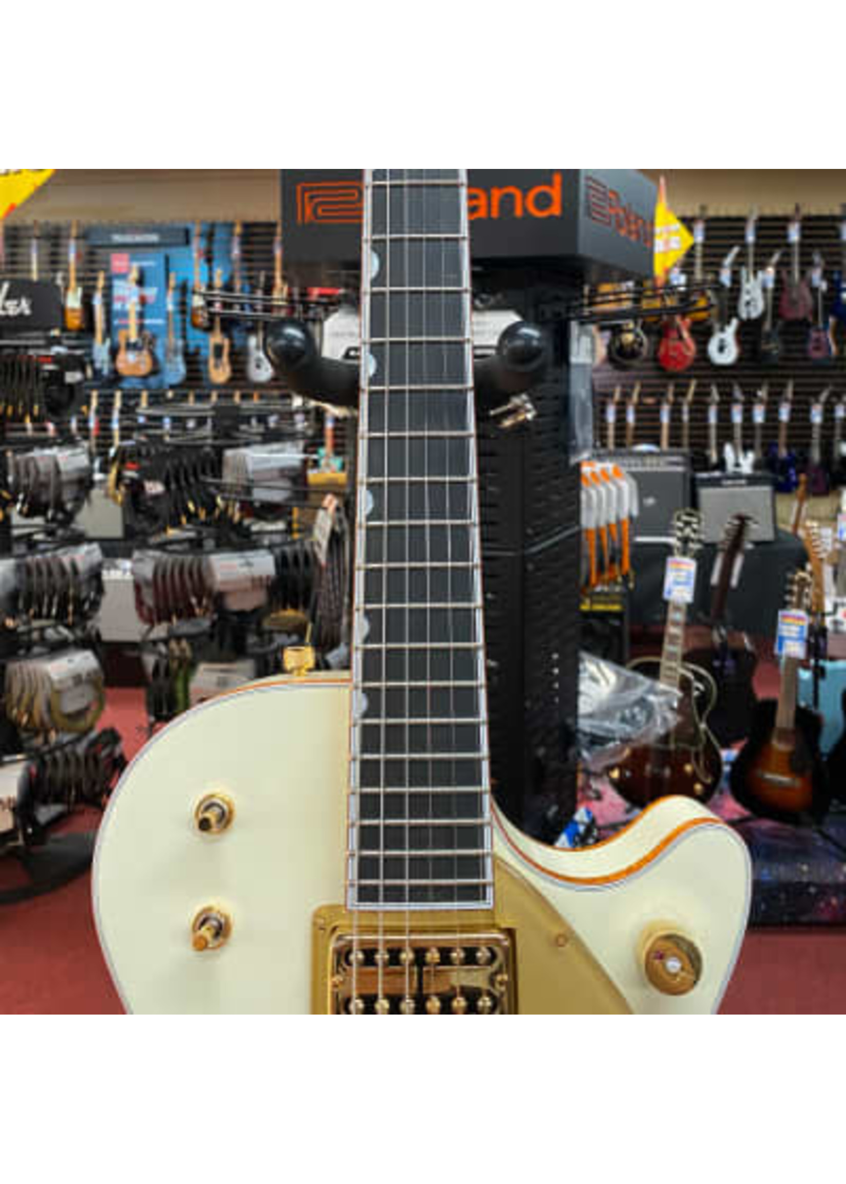Gretsch G6134T-58 Vintage Select '58 Penguin™ with Bigsby®, TV Jones®, Vintage White