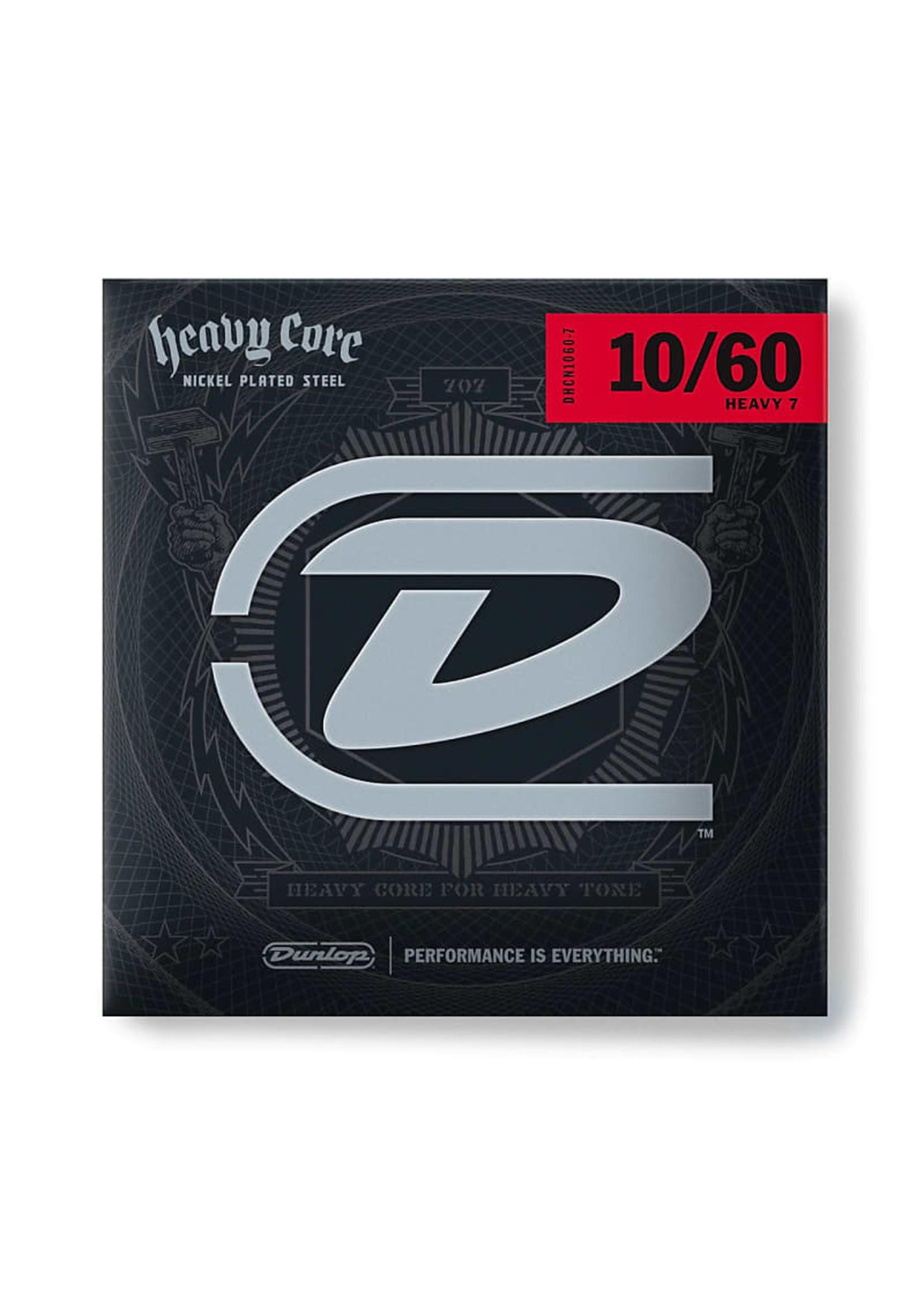 Dunlop DUNLOP DNCN1060-7 DUNLOP HEAVY CORE ELECTRIC GUITAR STRINGS 10-60 7-STRING