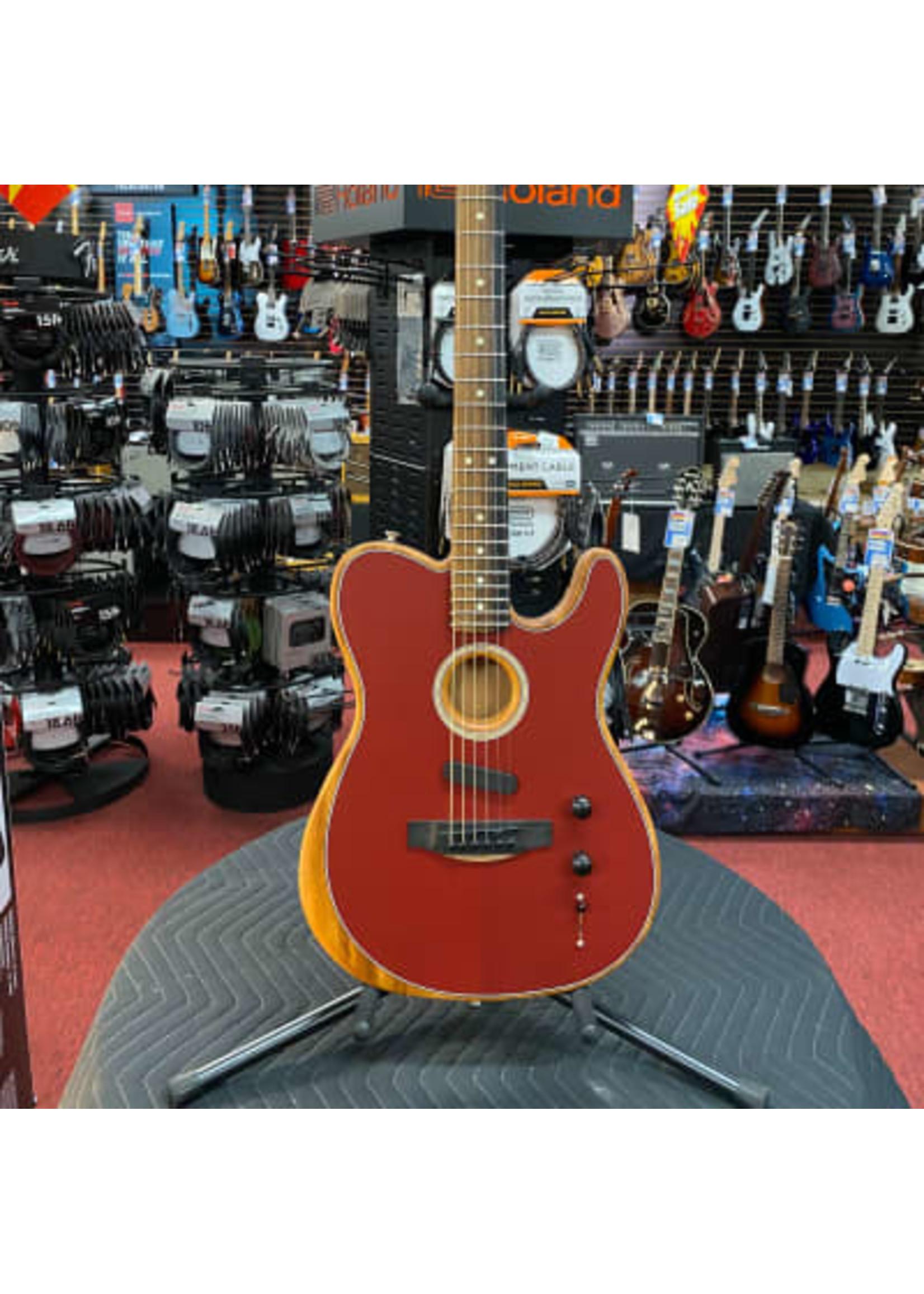 Fender American Acoustasonic® Telecaster®, Ebony Fingerboard, Crimson Red