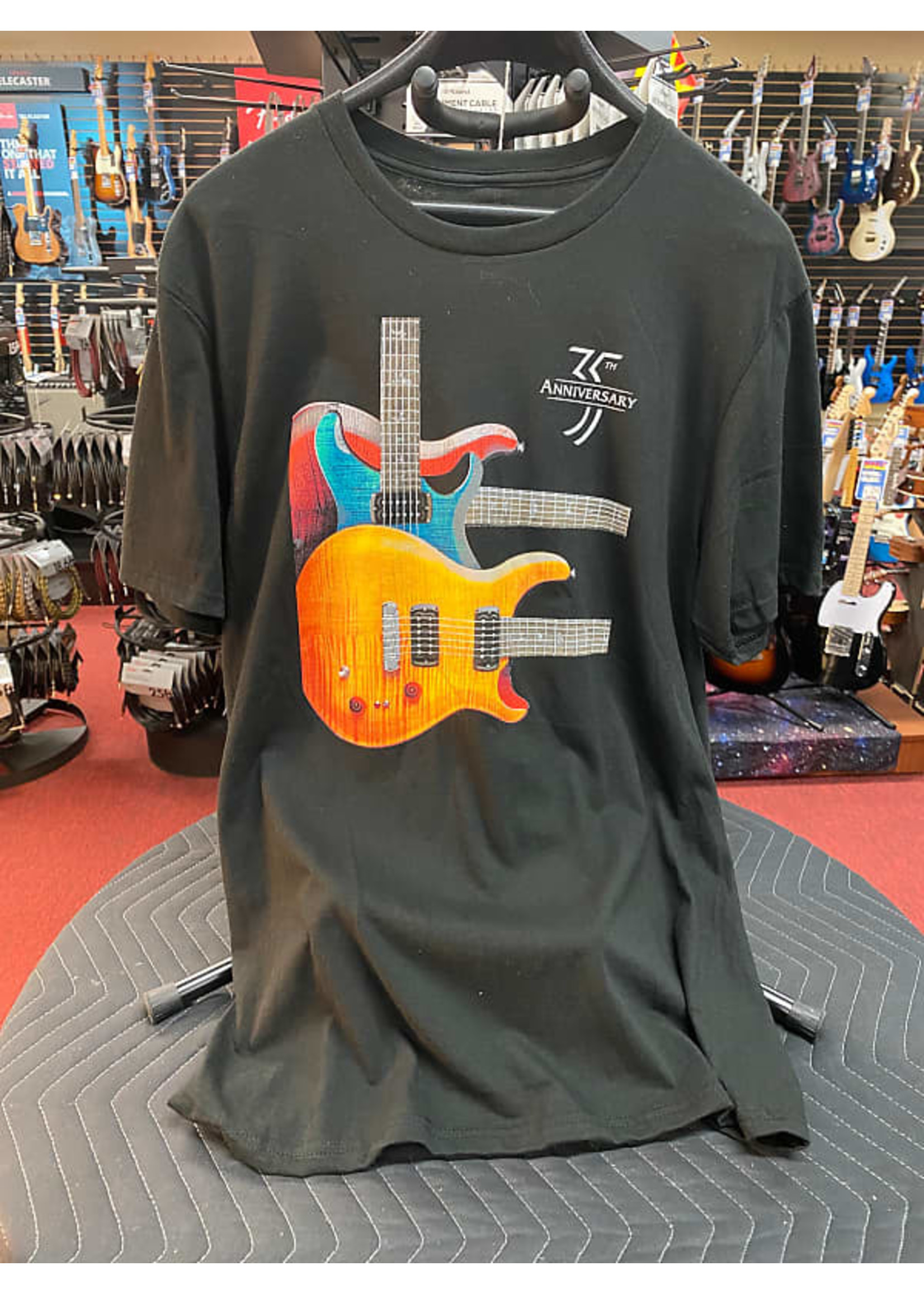Paul Reed Smith Paul's Guitar Three Guitar Throwback Design Tee