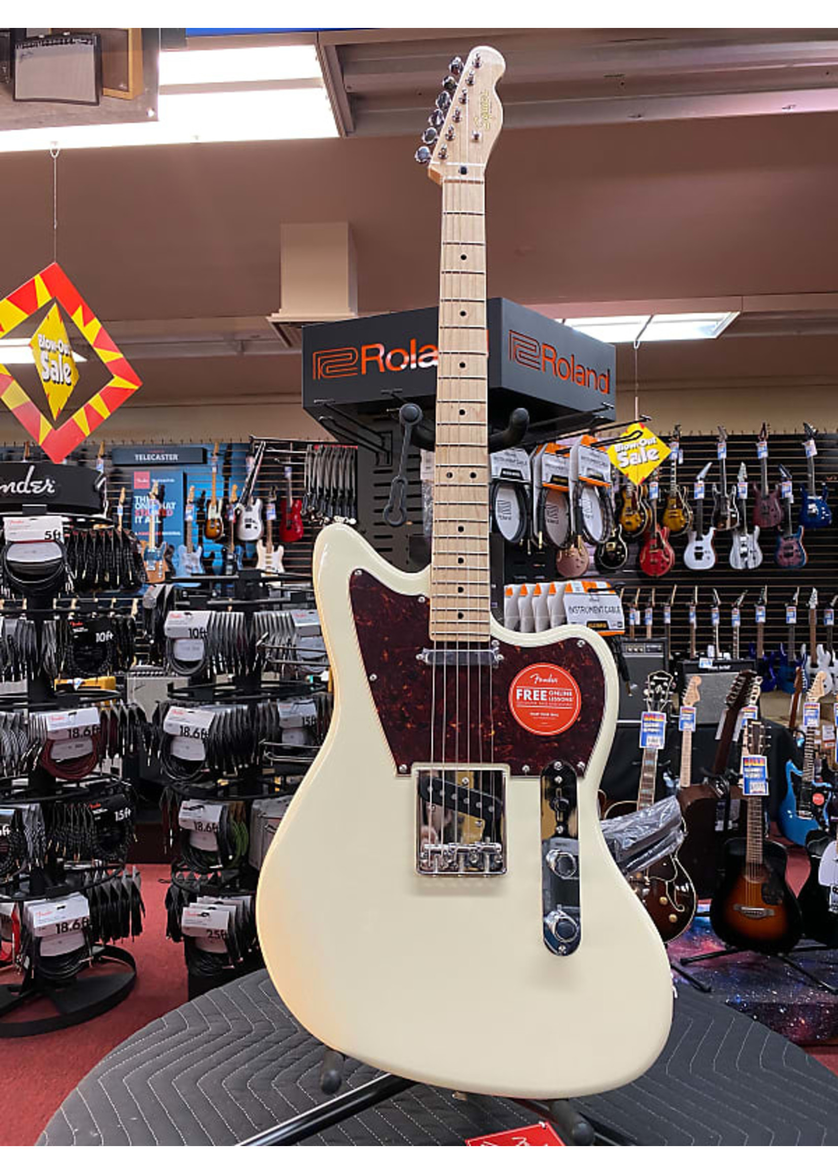 Squier Squier Paranormal Offset Telecaster®, Maple Fingerboard, Olympic White