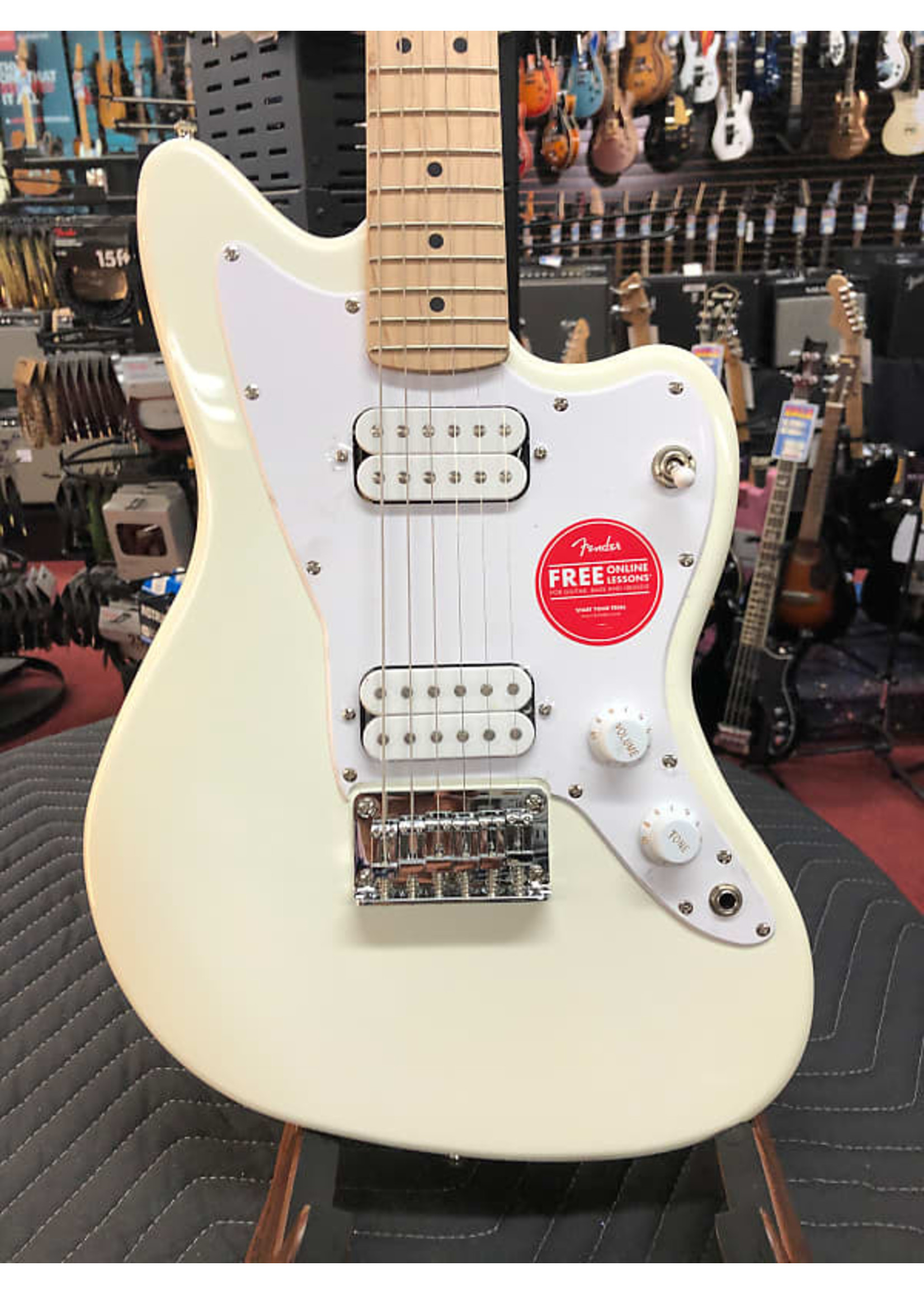 Fender Squier Mini Jazzmaster® HH, Maple Fingerboard, Olympic White