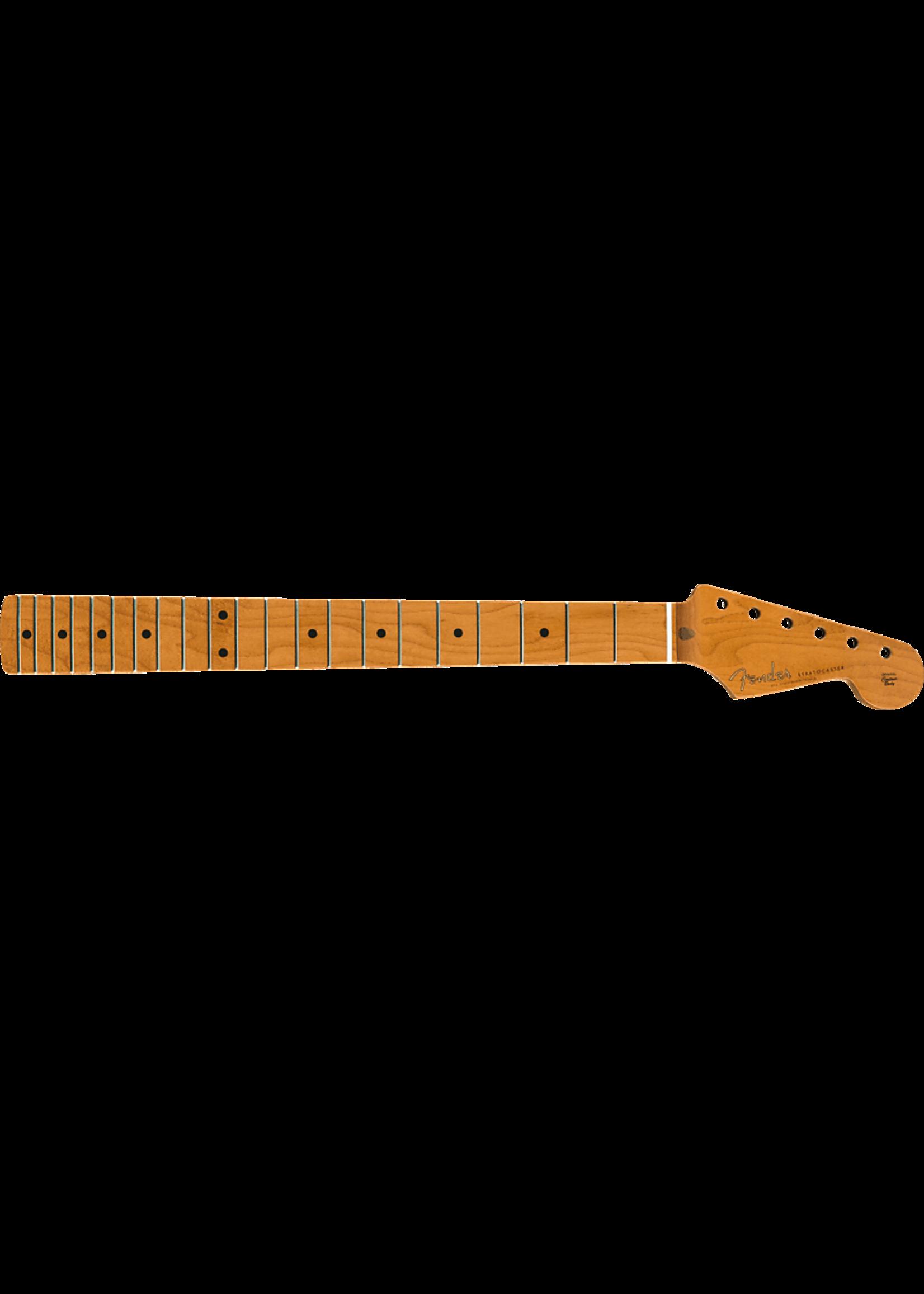 """Fender Fender Roasted Maple Vintera® Mod 50's Stratocaster® Neck, 21 Medium Jumbo Frets, 9.5"""", """"V"""" Shape"""