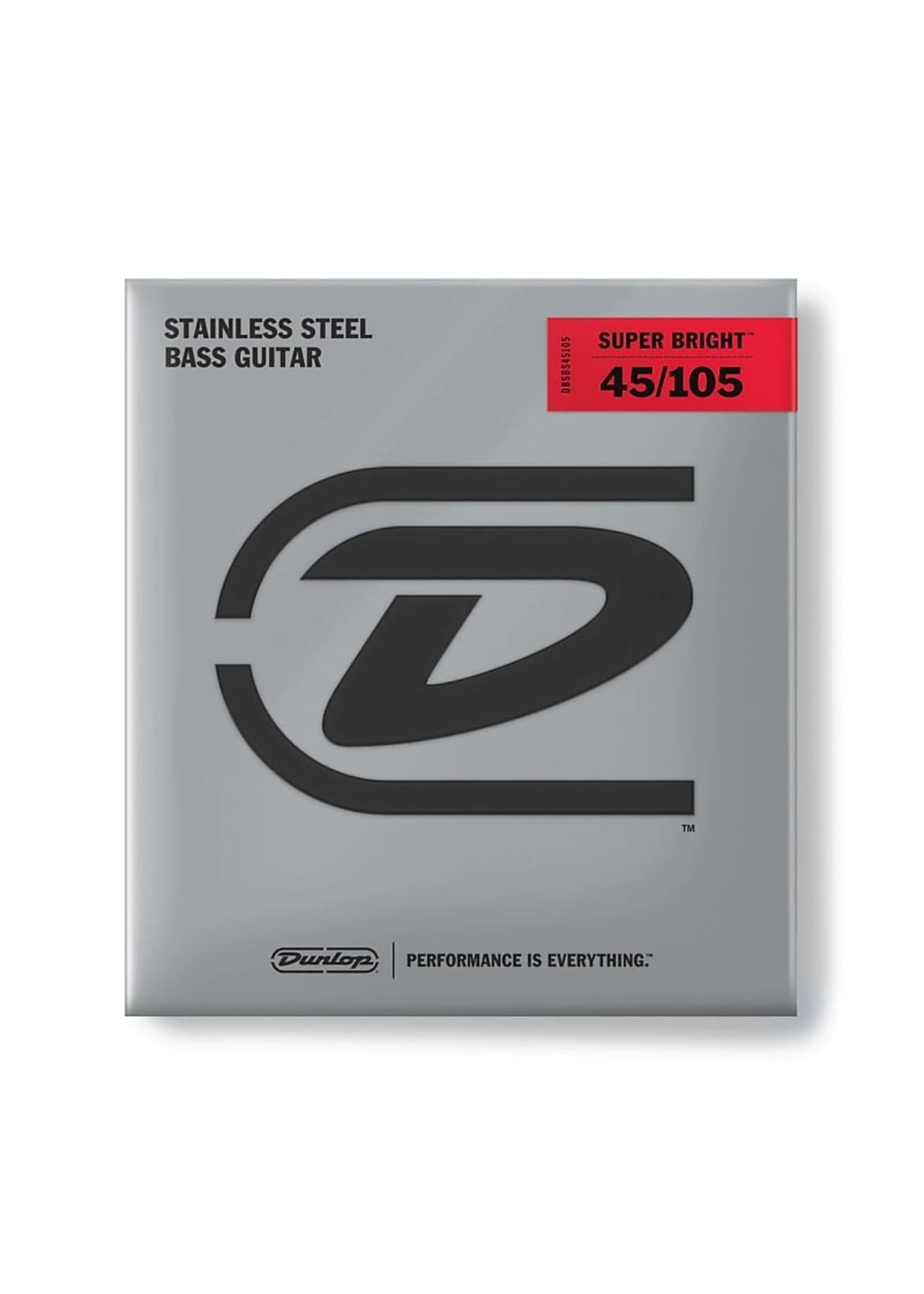 Dunlop Dunlop DBSBS45105 DUNLOP SUPER BRIGHT BASS STRINGS 45-105