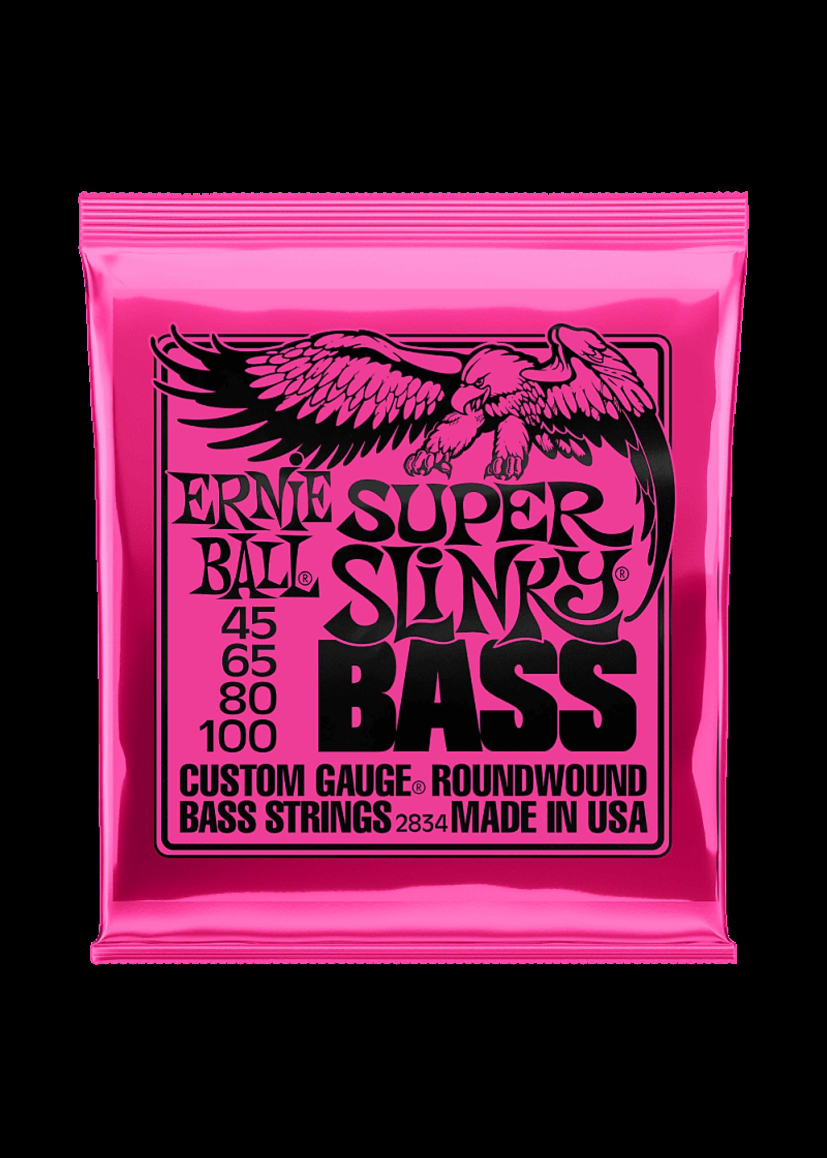 Ernie Ball Ernie Ball 2834 SUPER SLINKY NICKEL WOUND ELECTRIC BASS STRINGS - 45-100