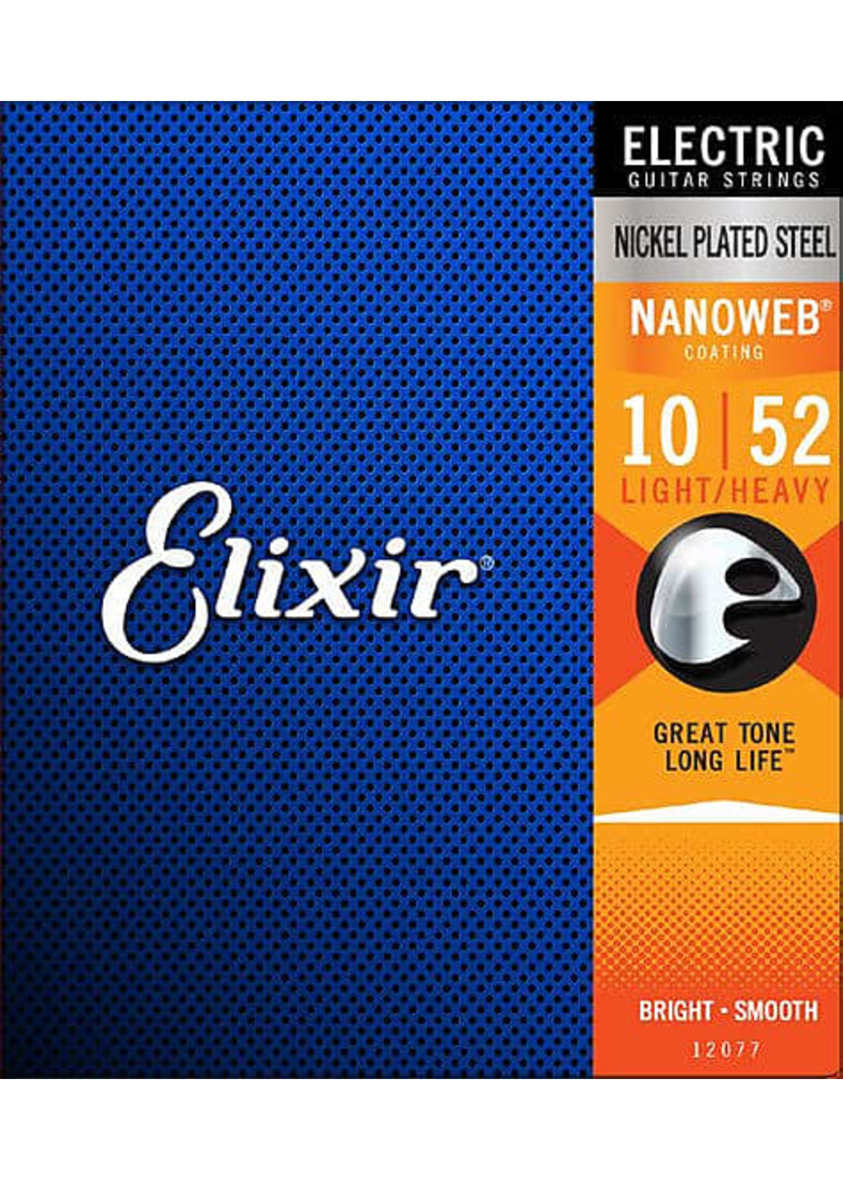 Elixir Elixir 12077 Nanoweb Coated Electric Guitar Strings 10-52