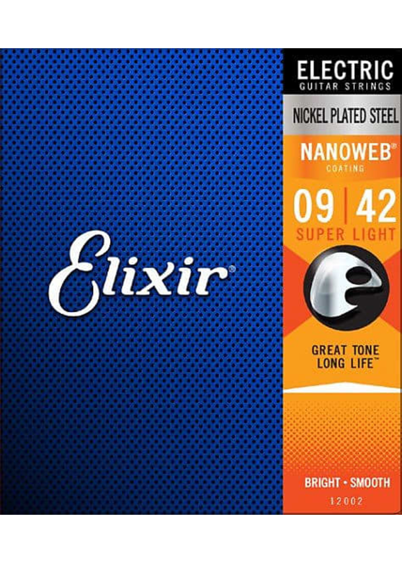 Elixir 12002 Nanoweb Coated Electric Guitar Strings 9-42