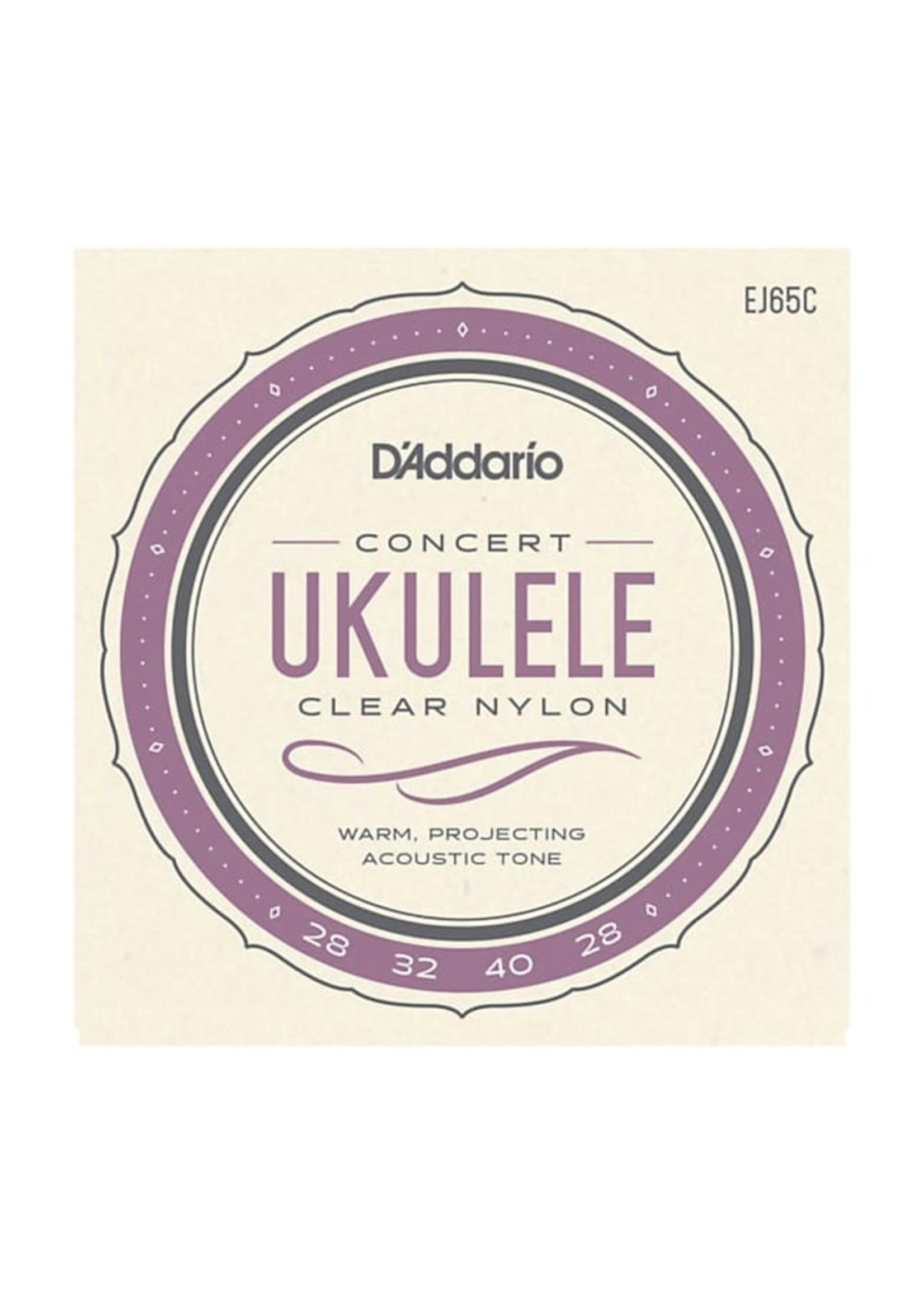 D'Addario D'Addario EJ65C Pro-Arté Custom Extruded Ukulele, Concert