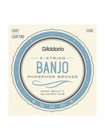 D'Addario D'Addario EJ69 5-String Banjo, Phosphor Bronze, Light, 9-20