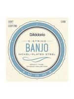 D'Addario D'Addario EJ60 5-String Banjo, Nickel, Light, 9-20
