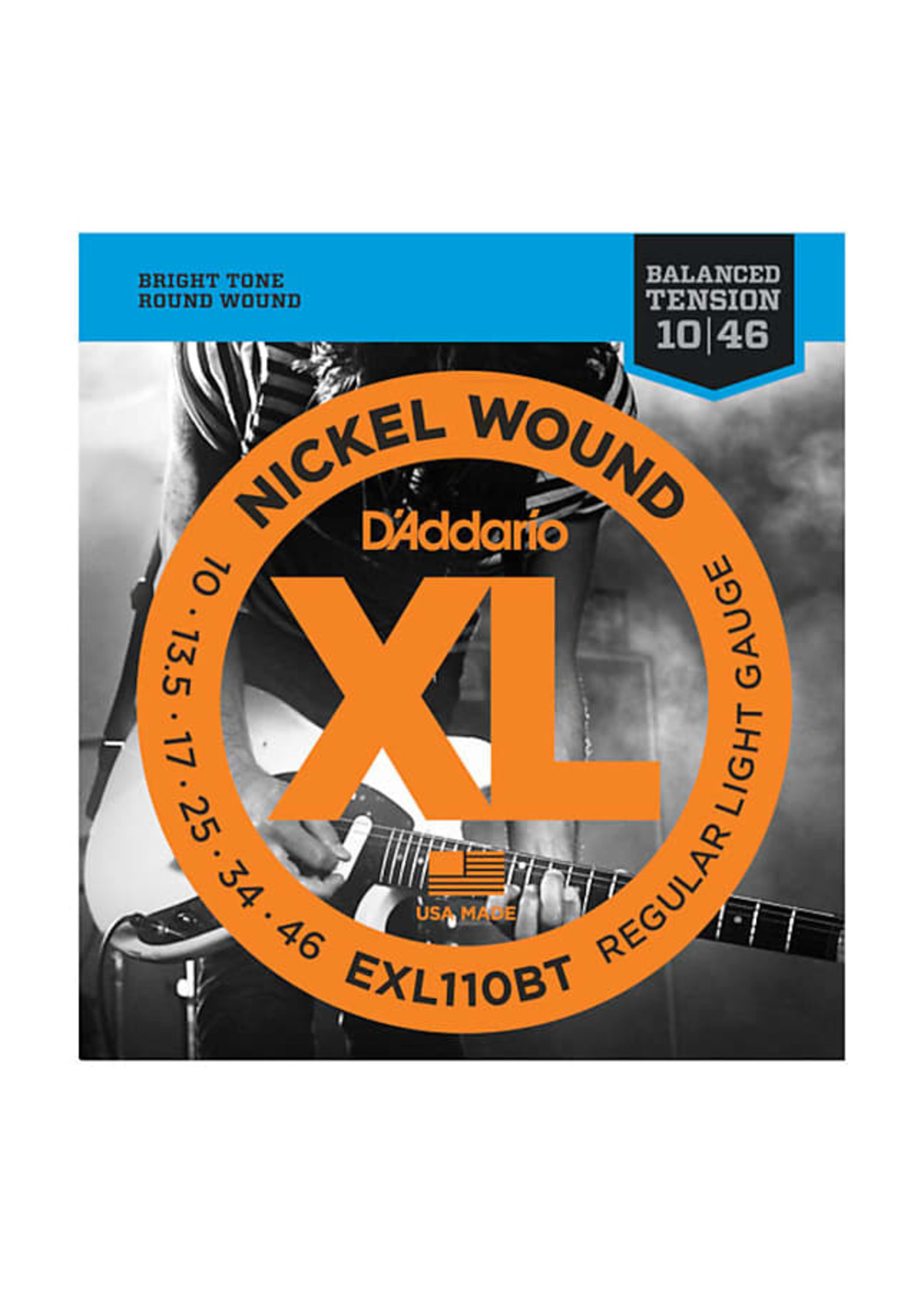 D'Addario D'Addario EXL110BT Nickel Wound, Balanced Tension Regular Light, 10-46