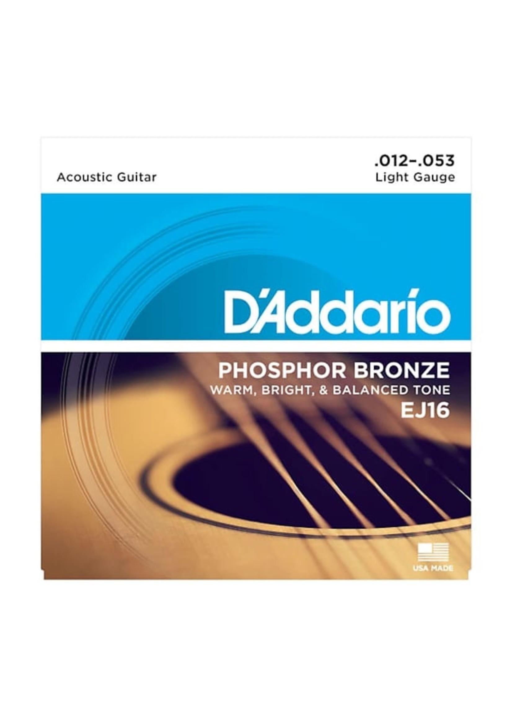 D'Addario D'Addario EJ16 12-53 Acoustic Guitar String Set