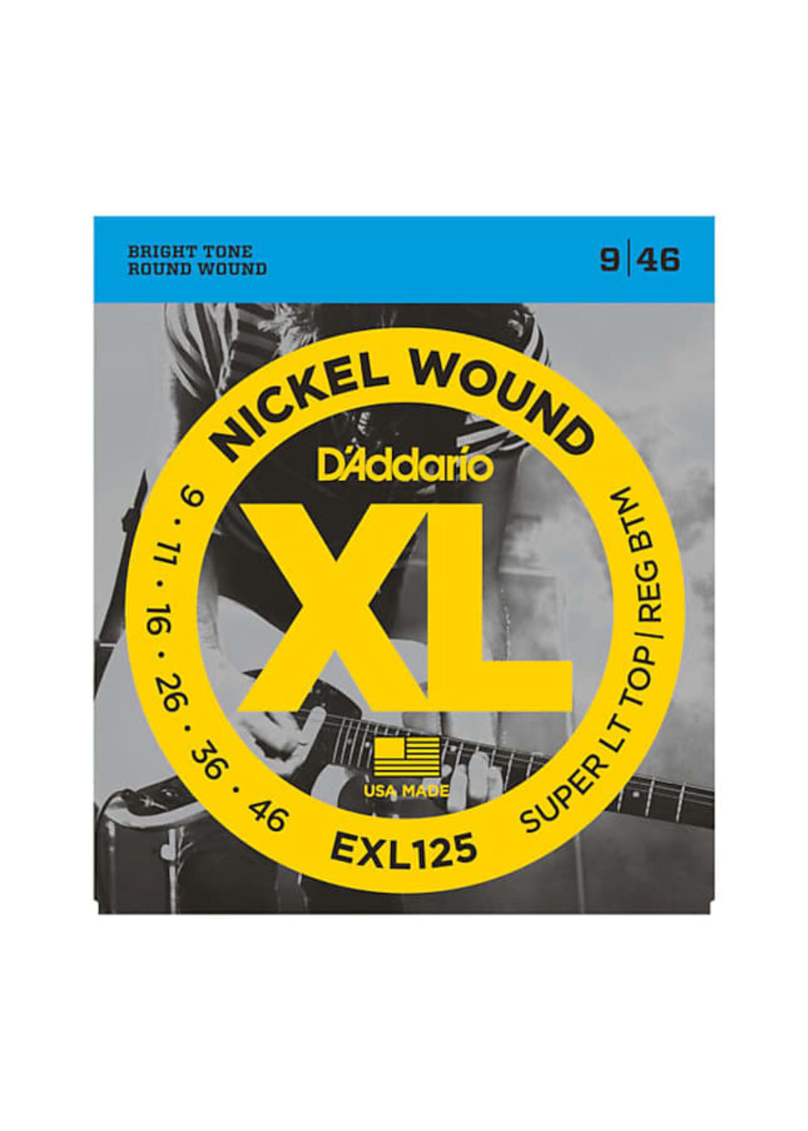 D'Addario D'Addario EXL125 9-46 Electric Guitar Strings