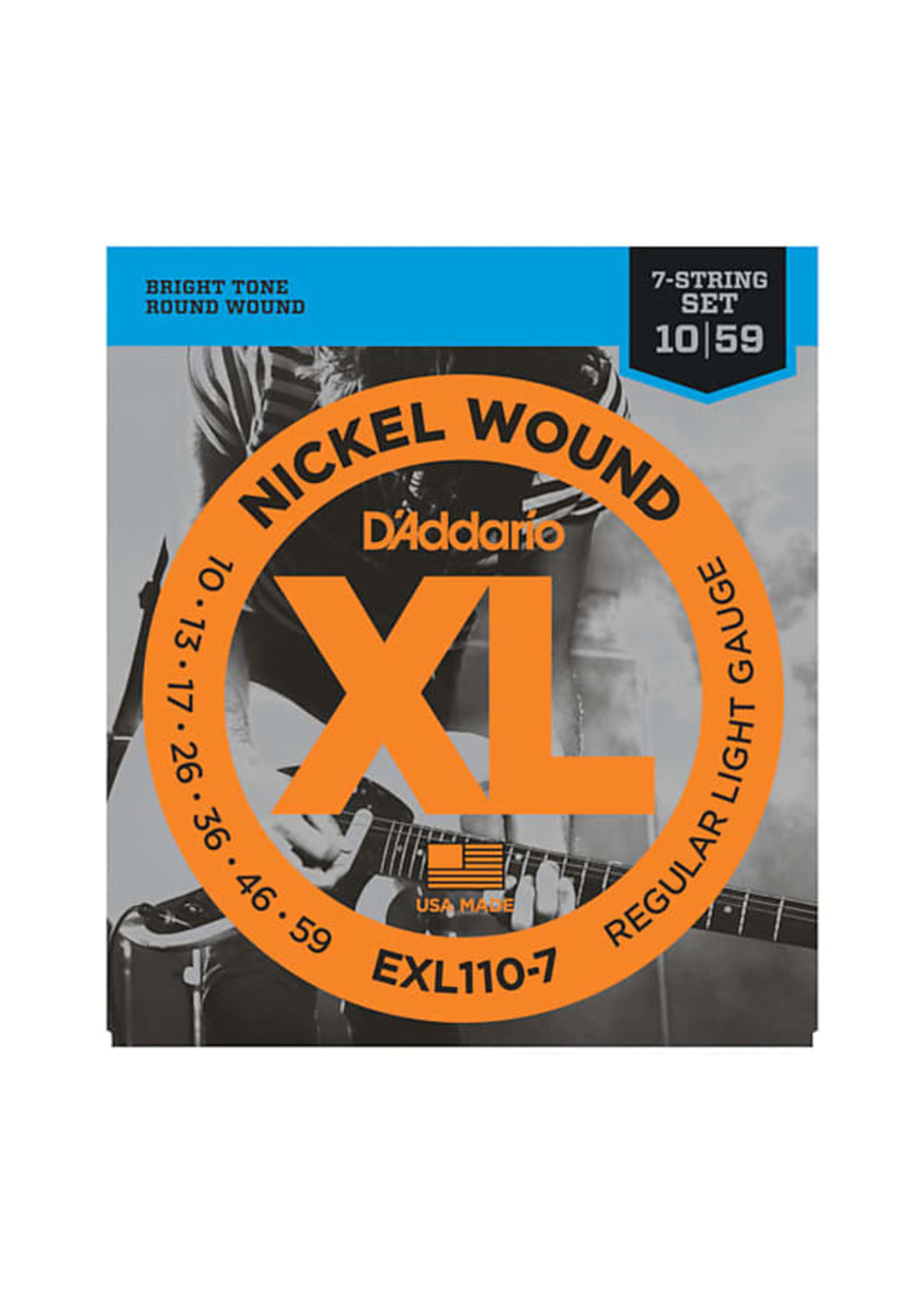 D'Addario D'Addario exl110-7 10-59 7 String Electric Guitar Set