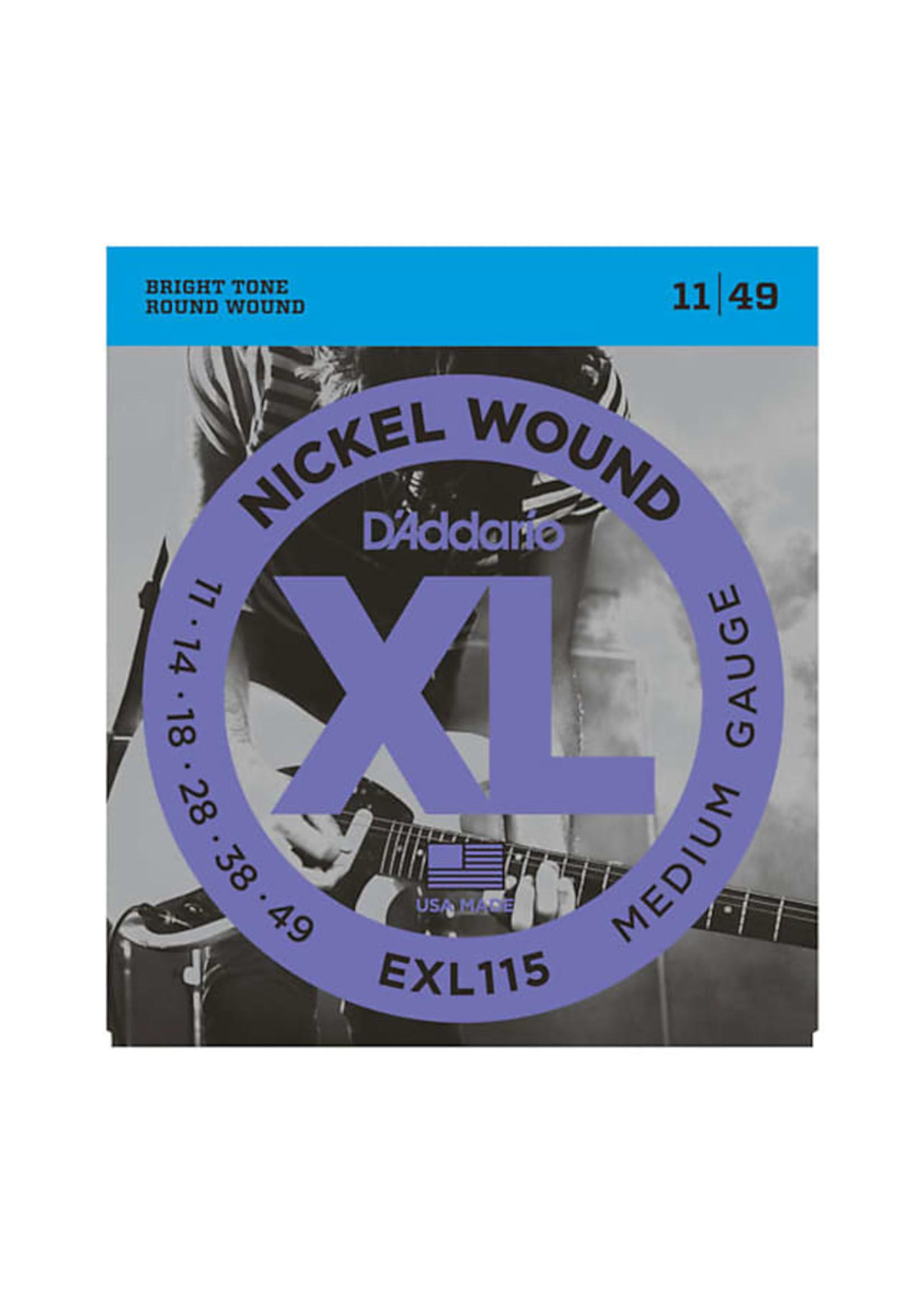 D'Addario D'Addario EXL115 11-49 Electric Guitar Strings