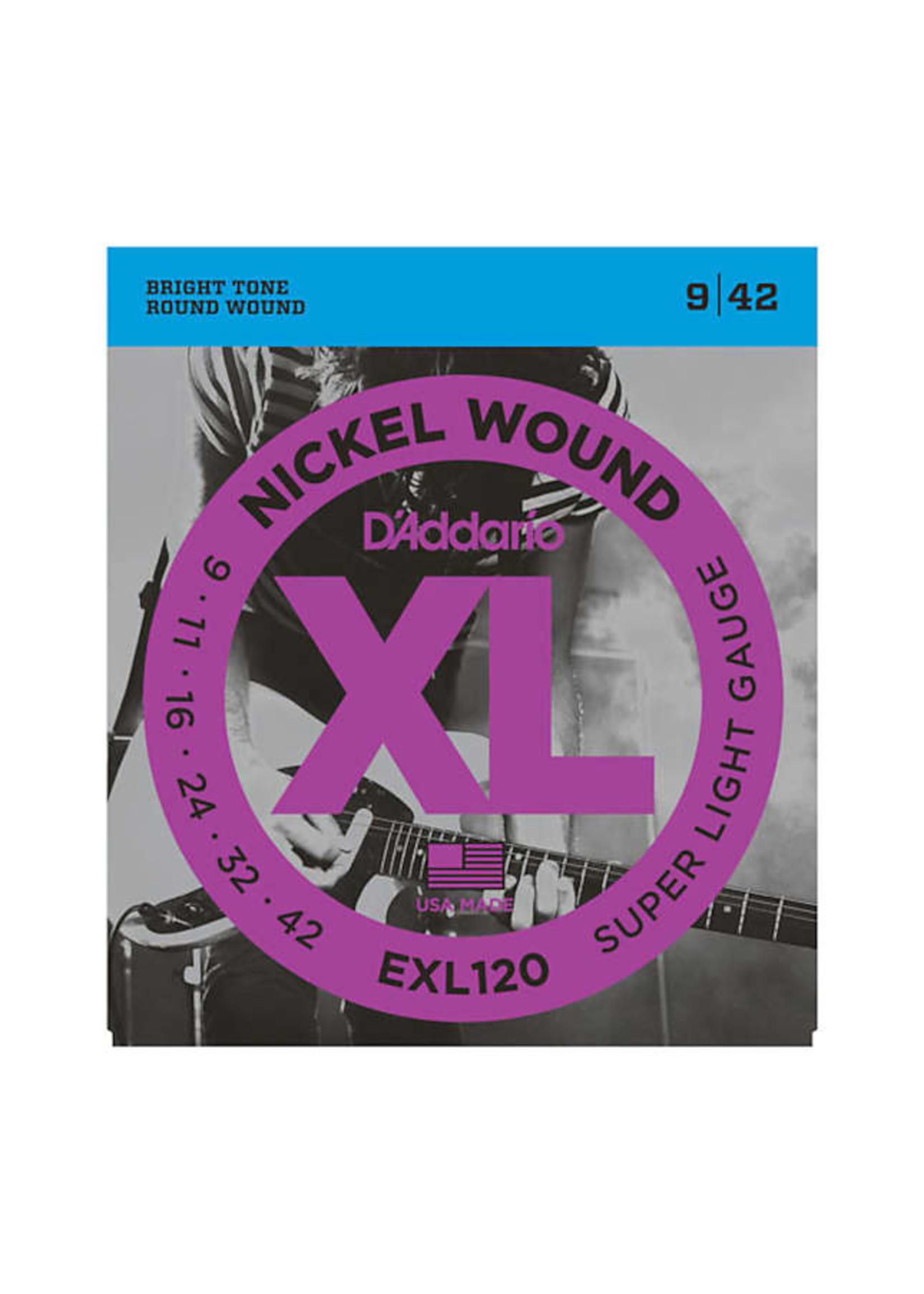 D'Addario D'Addario EXL120 9-42 Electric Guitar Strings