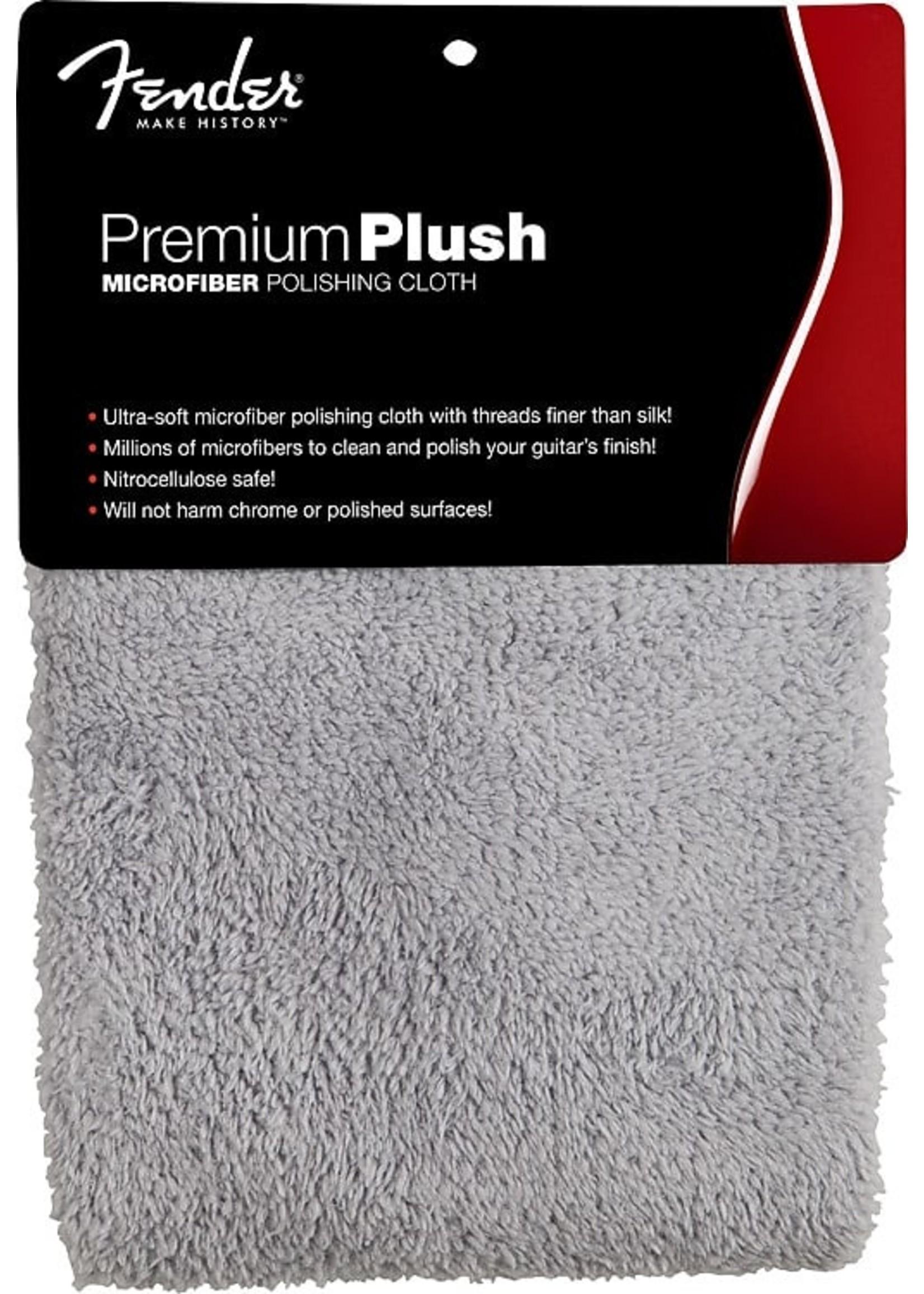 Fender Fender Premium Plush Microfiber Polishing Cloth, Gray
