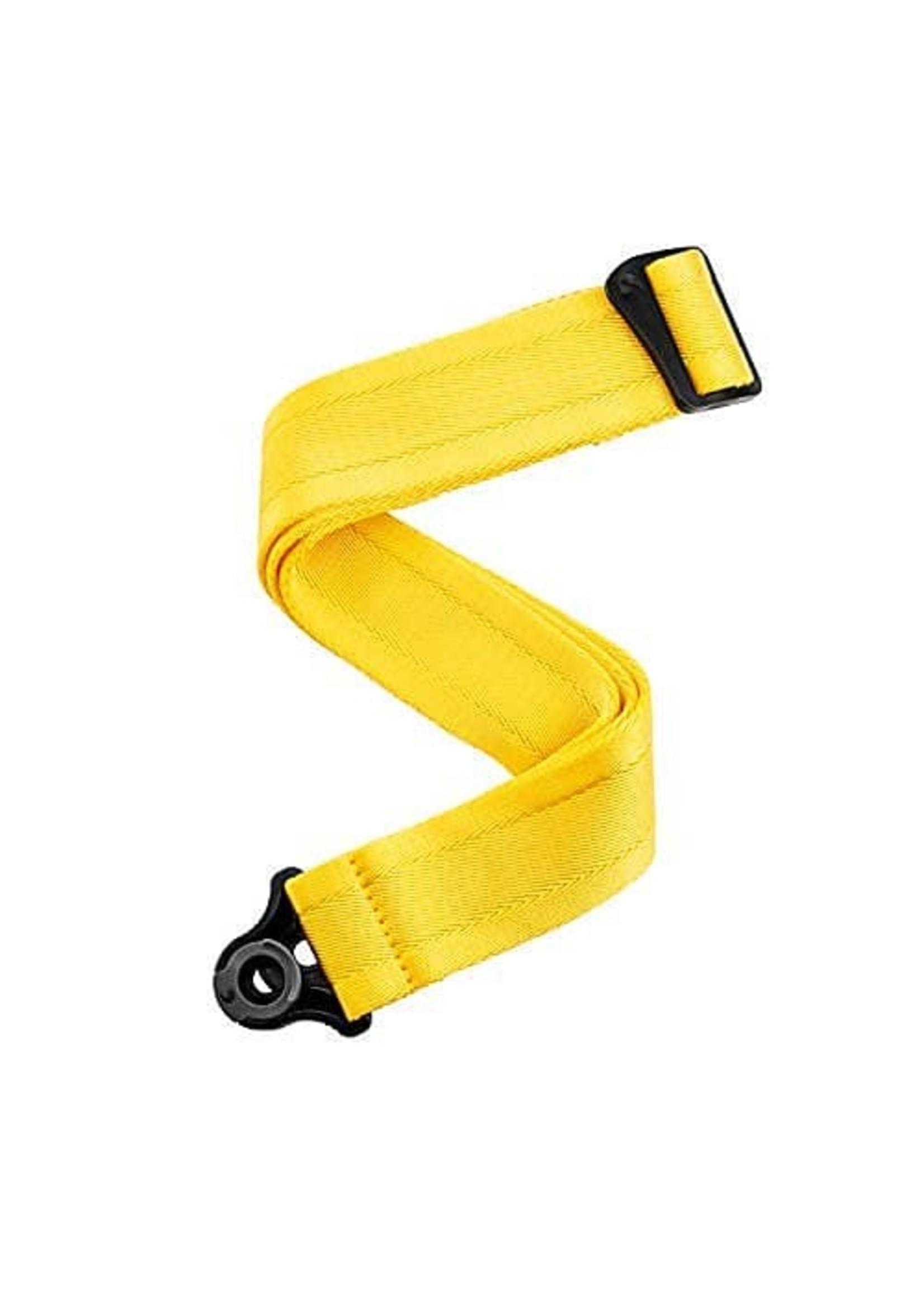 D'Addario D'Addario Auto Lock Guitar Strap-Mellow Yellow