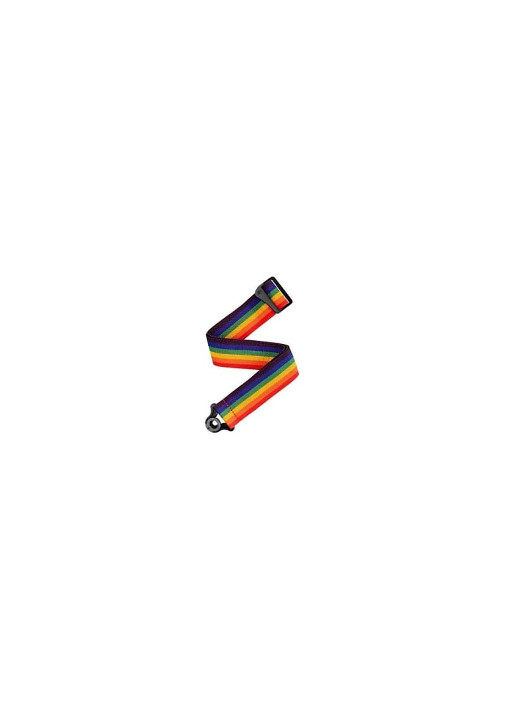 D'Addario D'Addario Auto Lock Guitar Strap - Rainbow