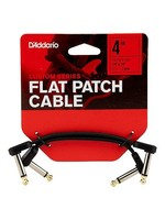 D'Addario D'Addario Flat Patch Cables Matching Right-Angle, 4 inches