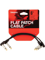 D'Addario D'Addario Flat Patch Cables Matching Right-Angle, 6 inches