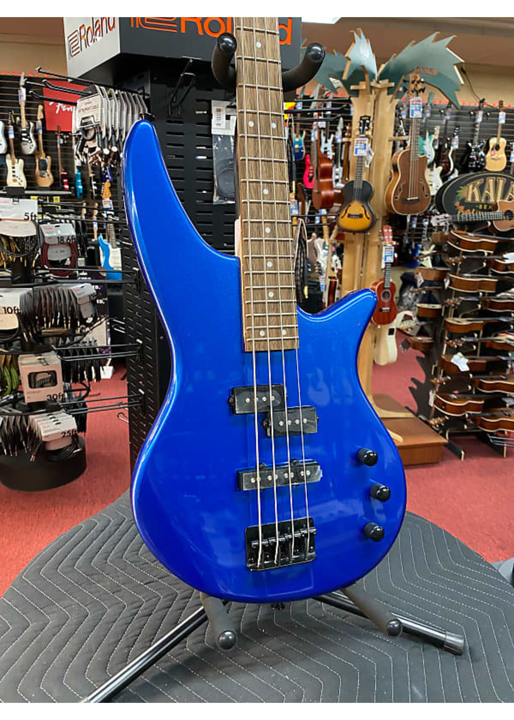 Jackson Jackson JS Series Spectra Bass JS2, Laurel Fingerboard, Metallic Blue