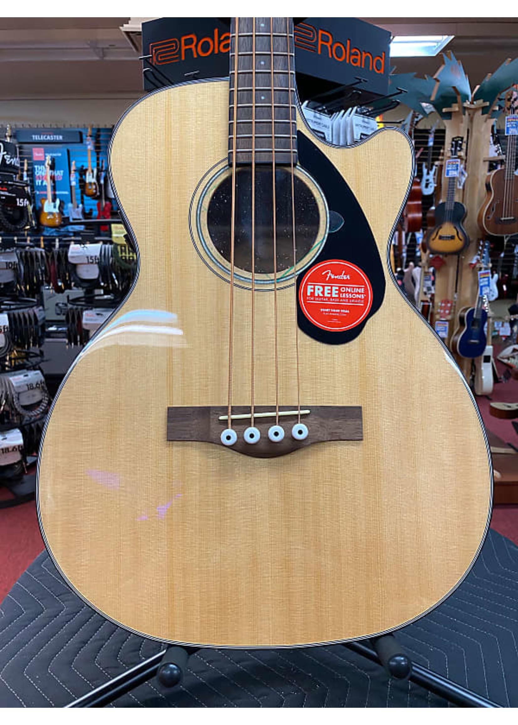 Fender Fender CB-60SCE Bass, Laurel Fingerboard, Natural