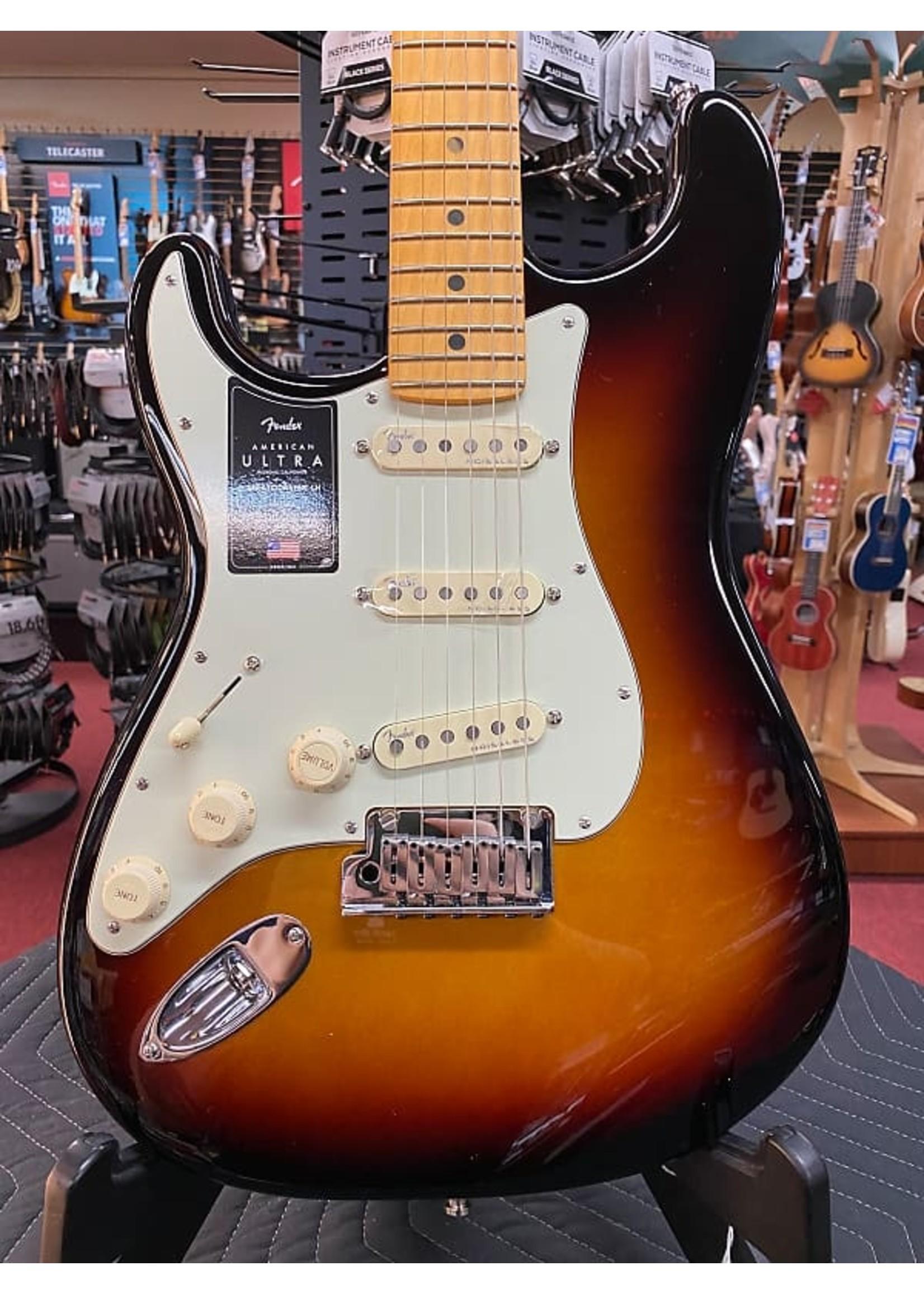 Fender Fender American Ultra Stratocaster® Left-Hand, Maple Fingerboard, Ultraburst