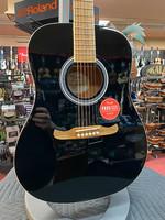 Fender Fender FA-125 Dreadnought, Walnut Fingerboard, Black