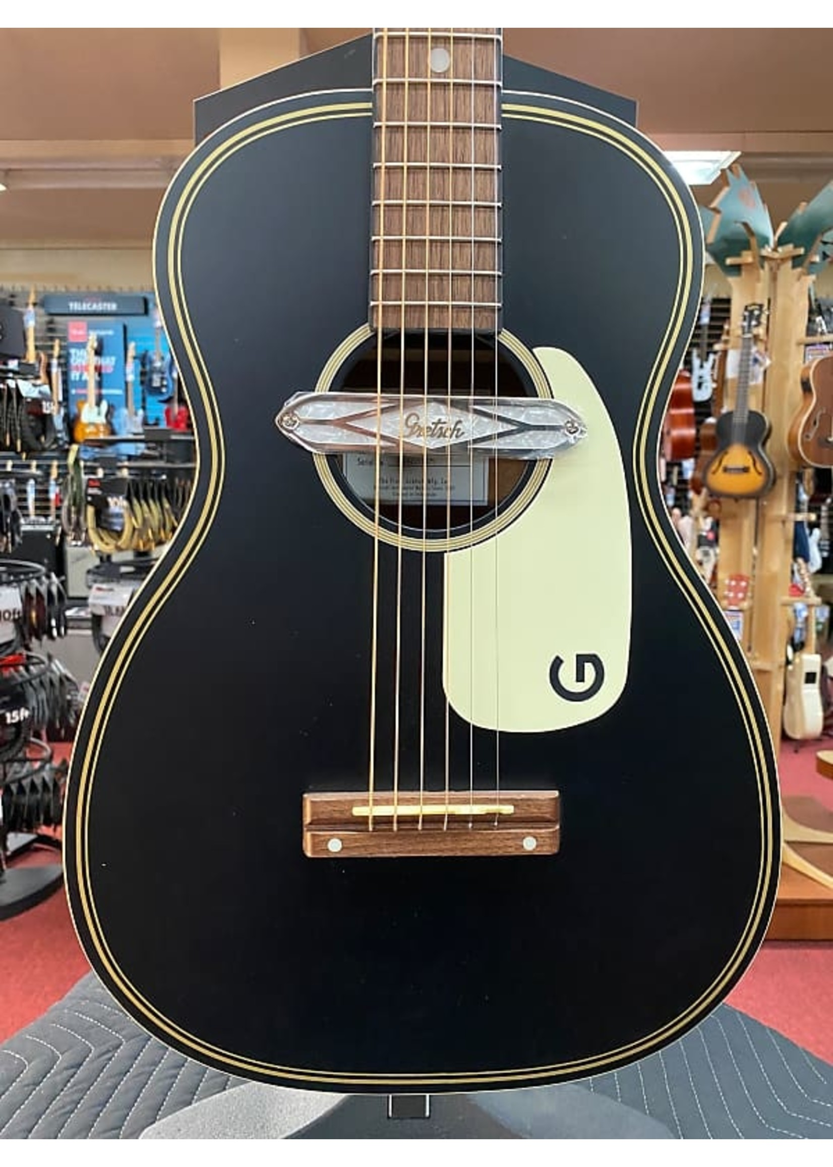 Gretsch Gretsch G9520E Gin Rickey Acoustic/Electric with Soundhole Pickup, Smokestack Black