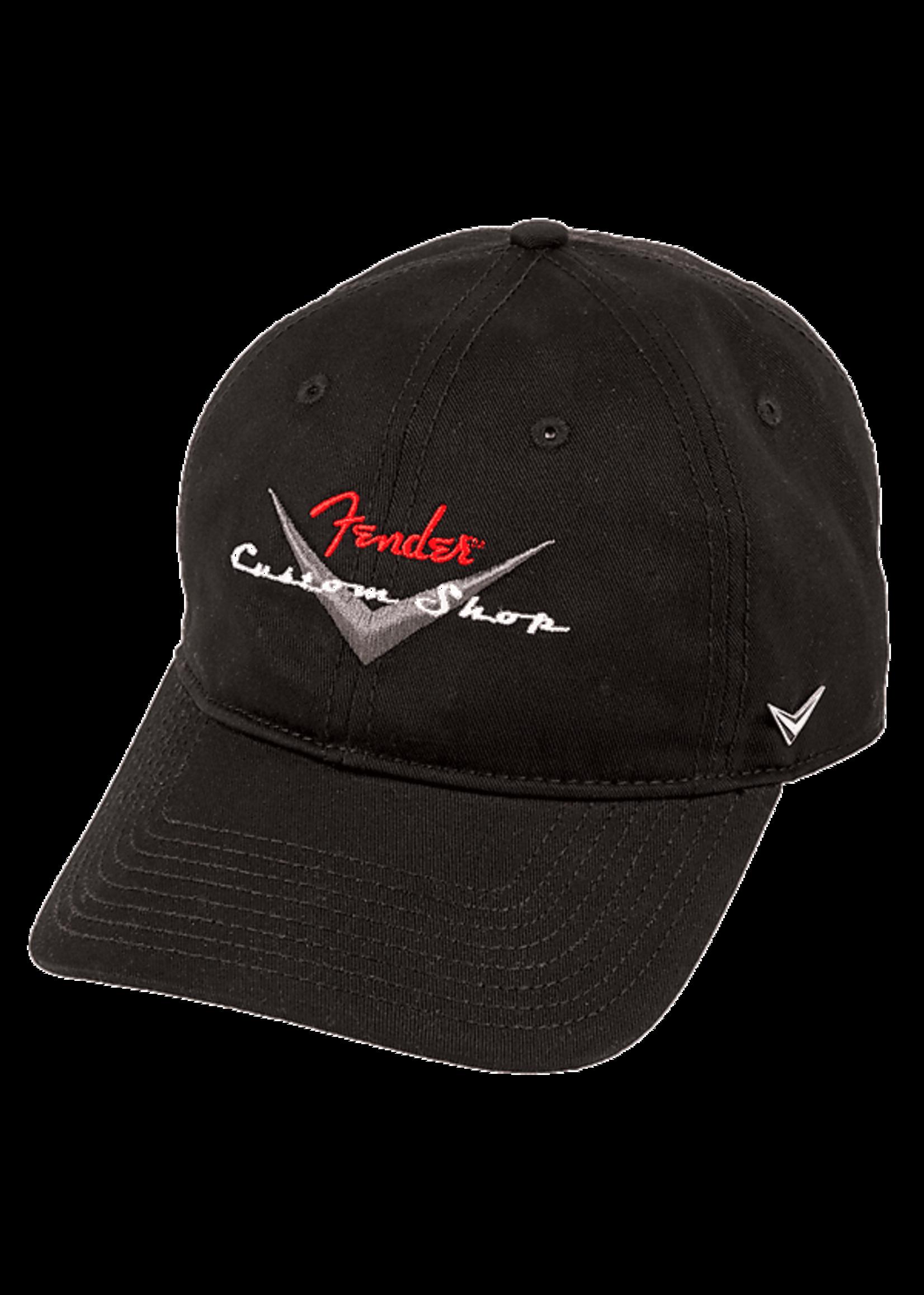 Fender Fender Custom Shop Baseball Hat, Black, One Size Fits Most