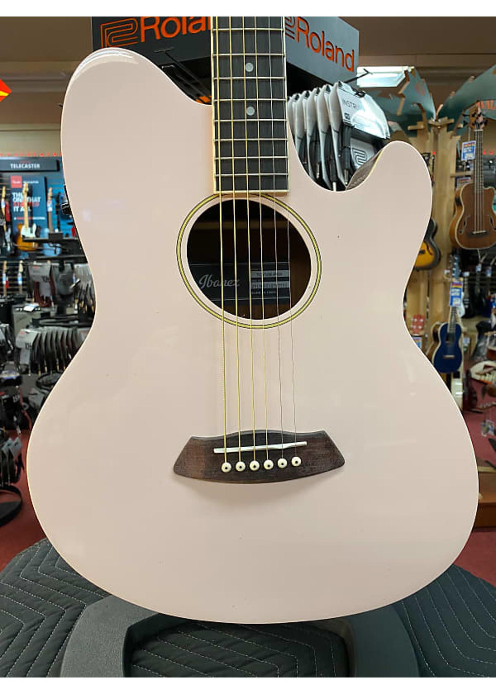 Ibanez Ibanez Talman TCY10E Acoustic-electric Guitar - Pastel Pink