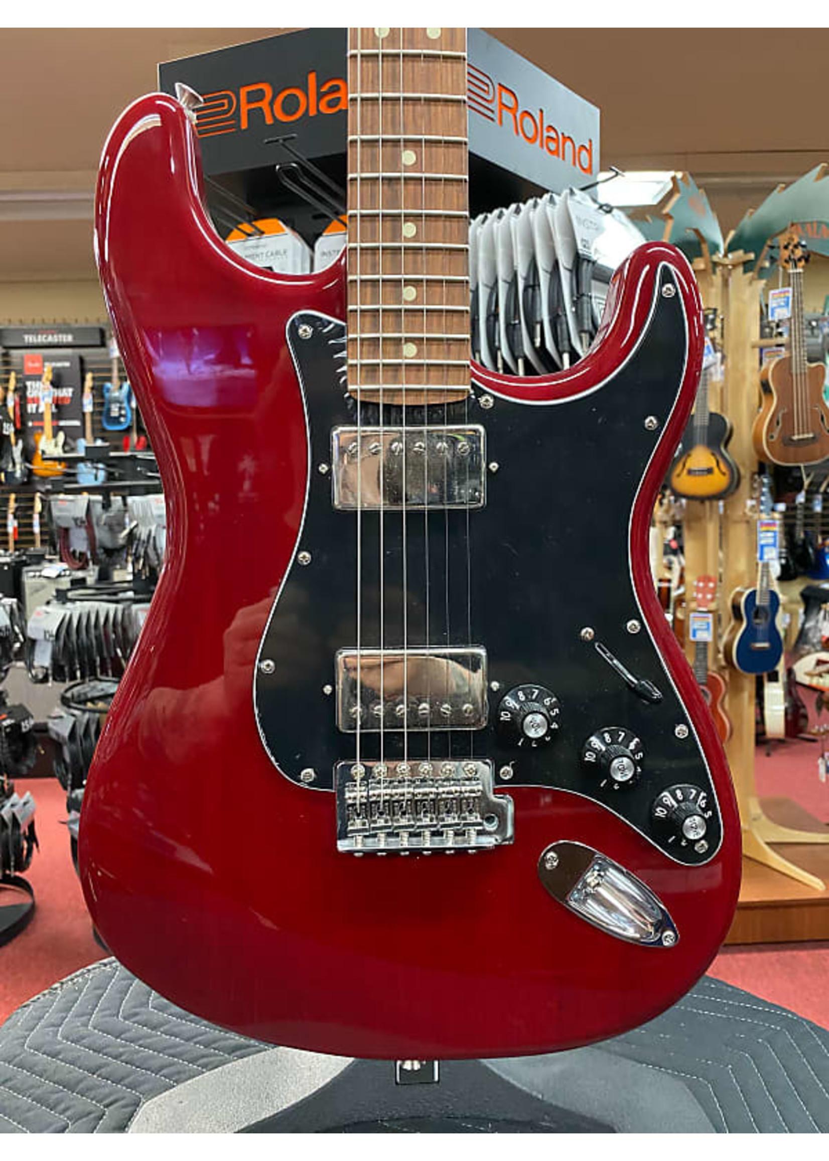 Fender Fender Limited Edition Mahogany Blacktop Stratocaster, Pau Ferro Fingerboard, Crimson Red Trans NOS