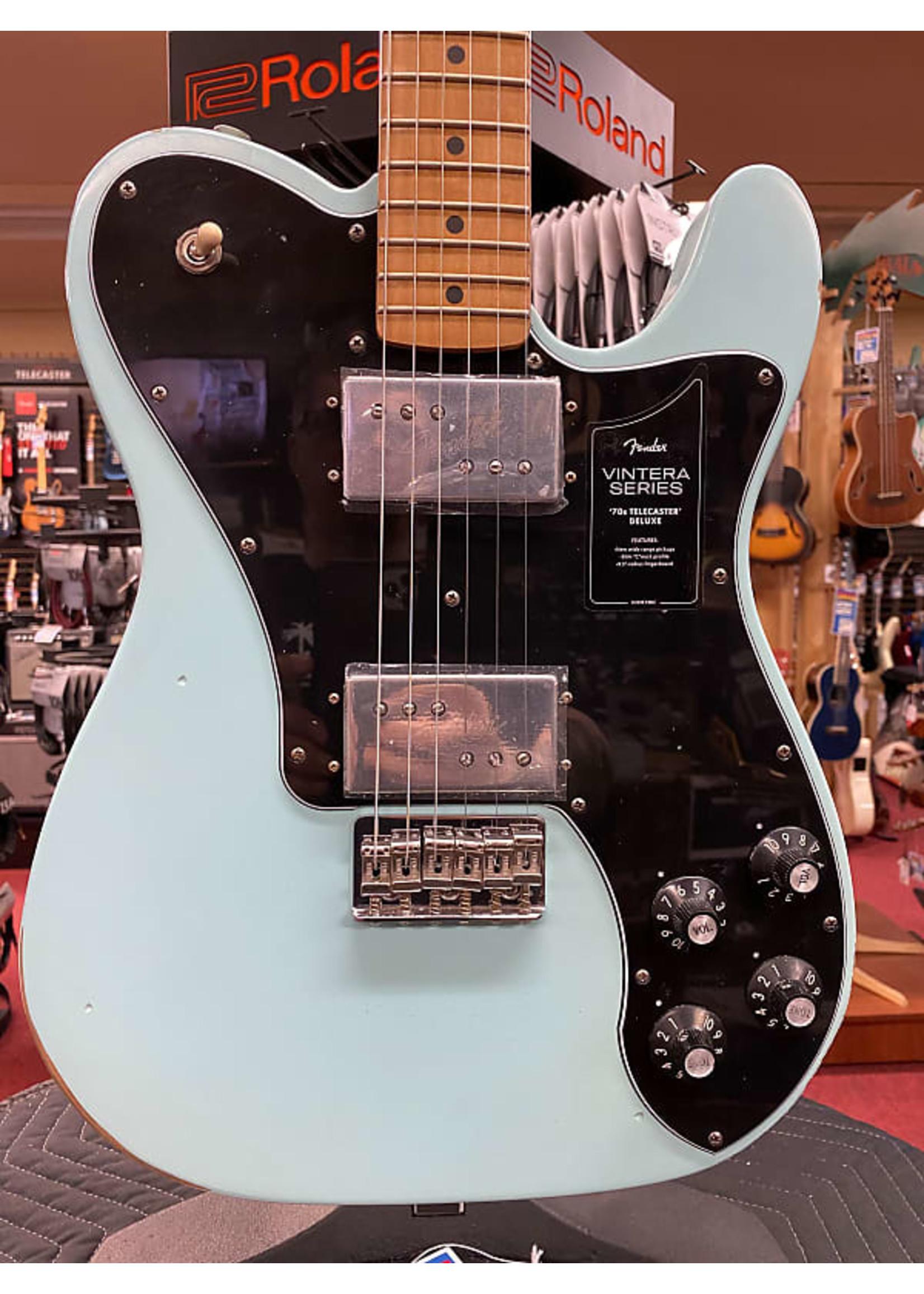 Fender Fender Vintera Road Worn '70s Telecaster® Deluxe, Maple Fingerboard, Daphne Blue