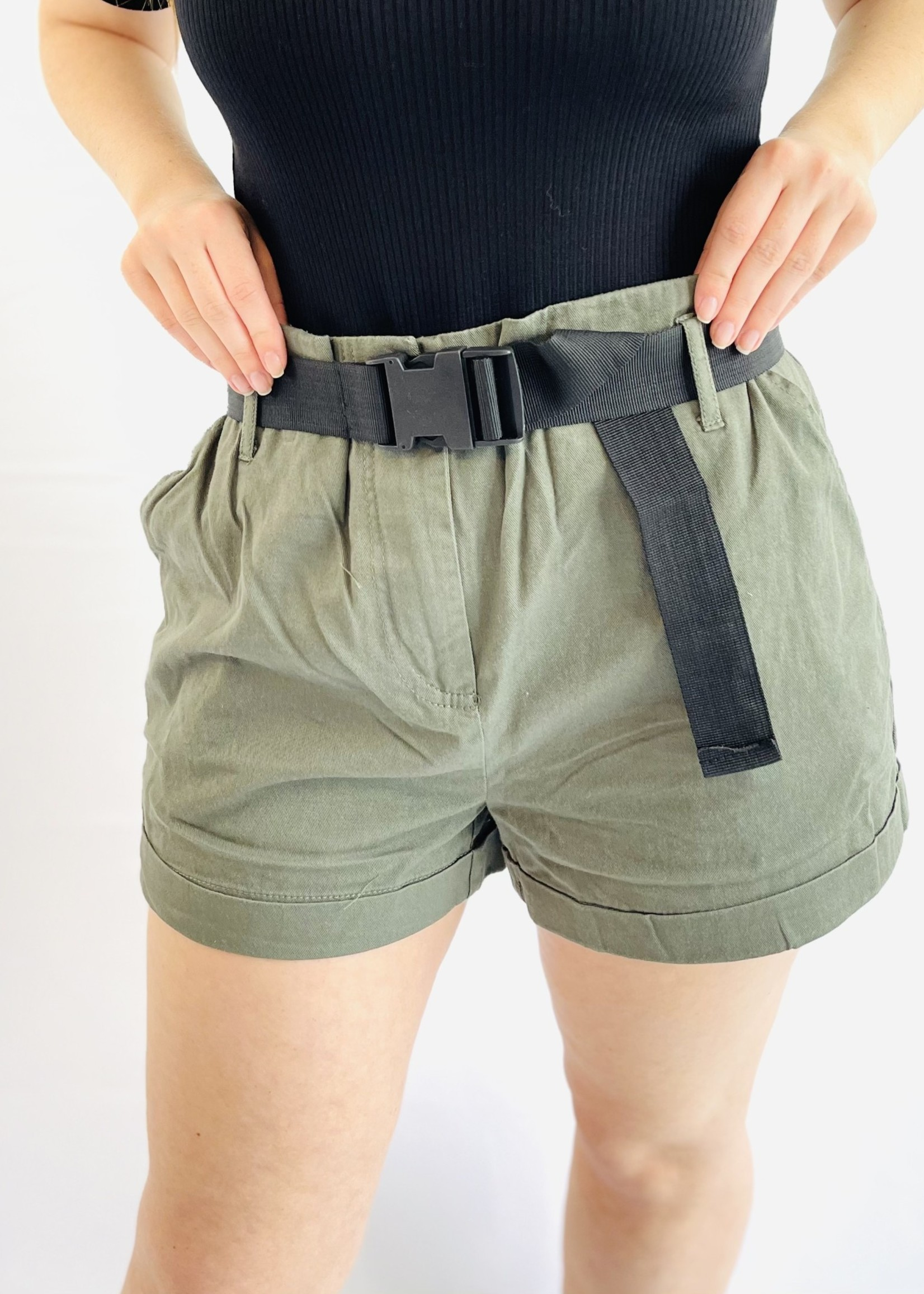 Olive Army Shorts