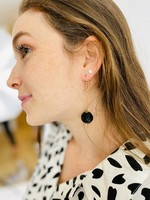 Daisy Black Drop Earrings