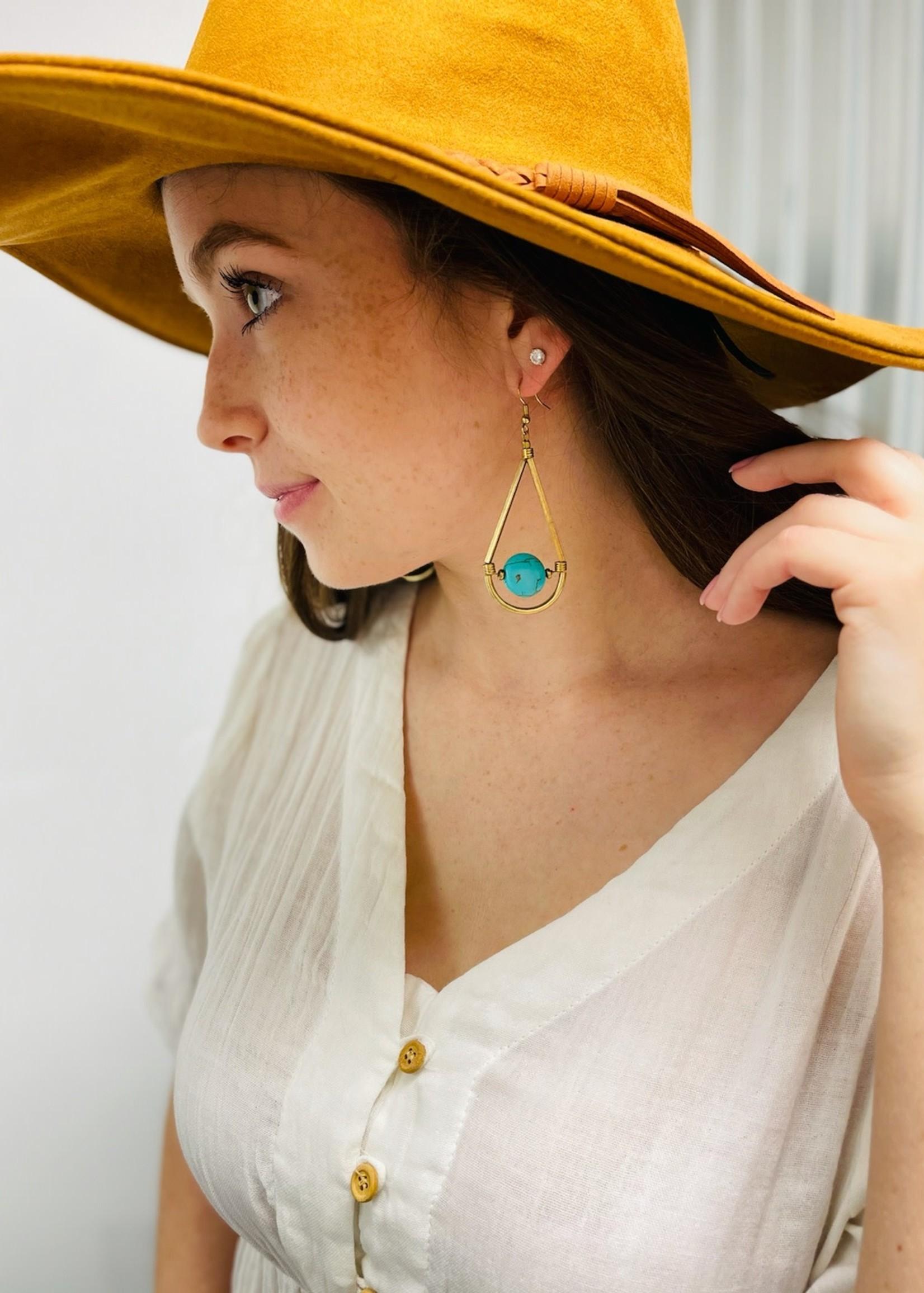 Suspended Azure Earrings