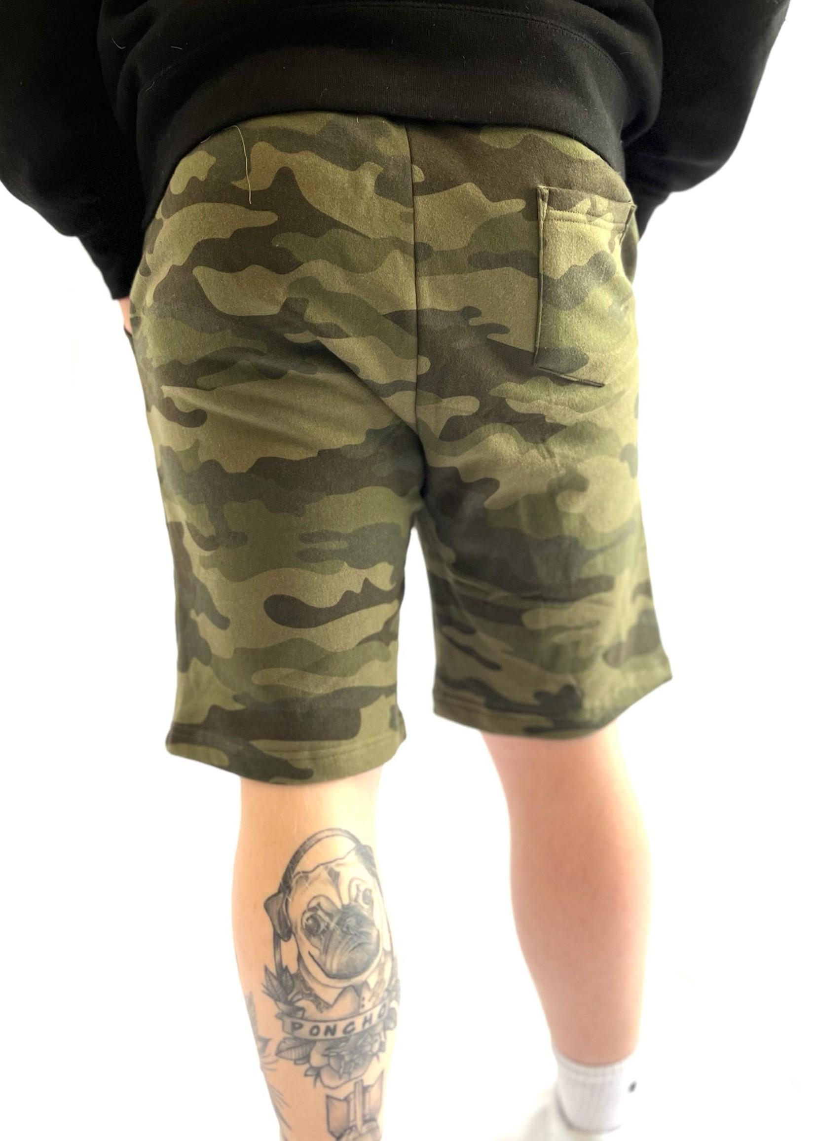 Fleece Camo Shorts